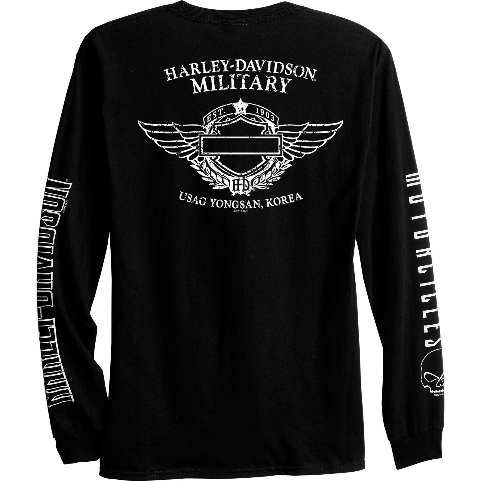 Harley-Davidson Men/'s Long-Sleeve Graphic Tee USAG YongsanArch G