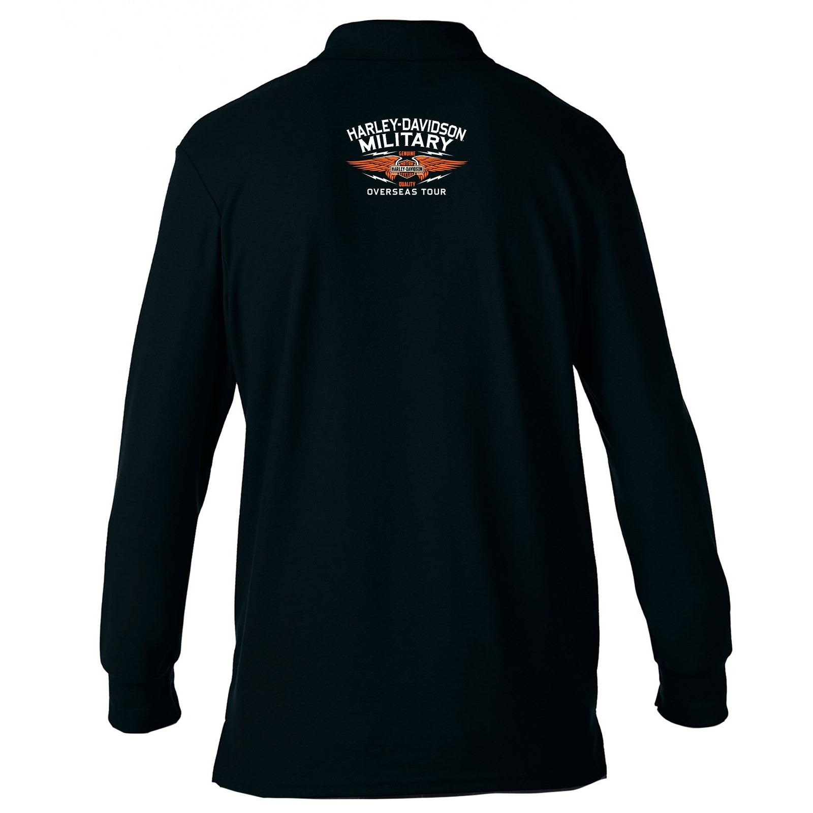 best website 79b89 ff3cb Harley-Davidson Men's Long-Sleeve Sport Shirt - Overseas Tour   Eagle Polo