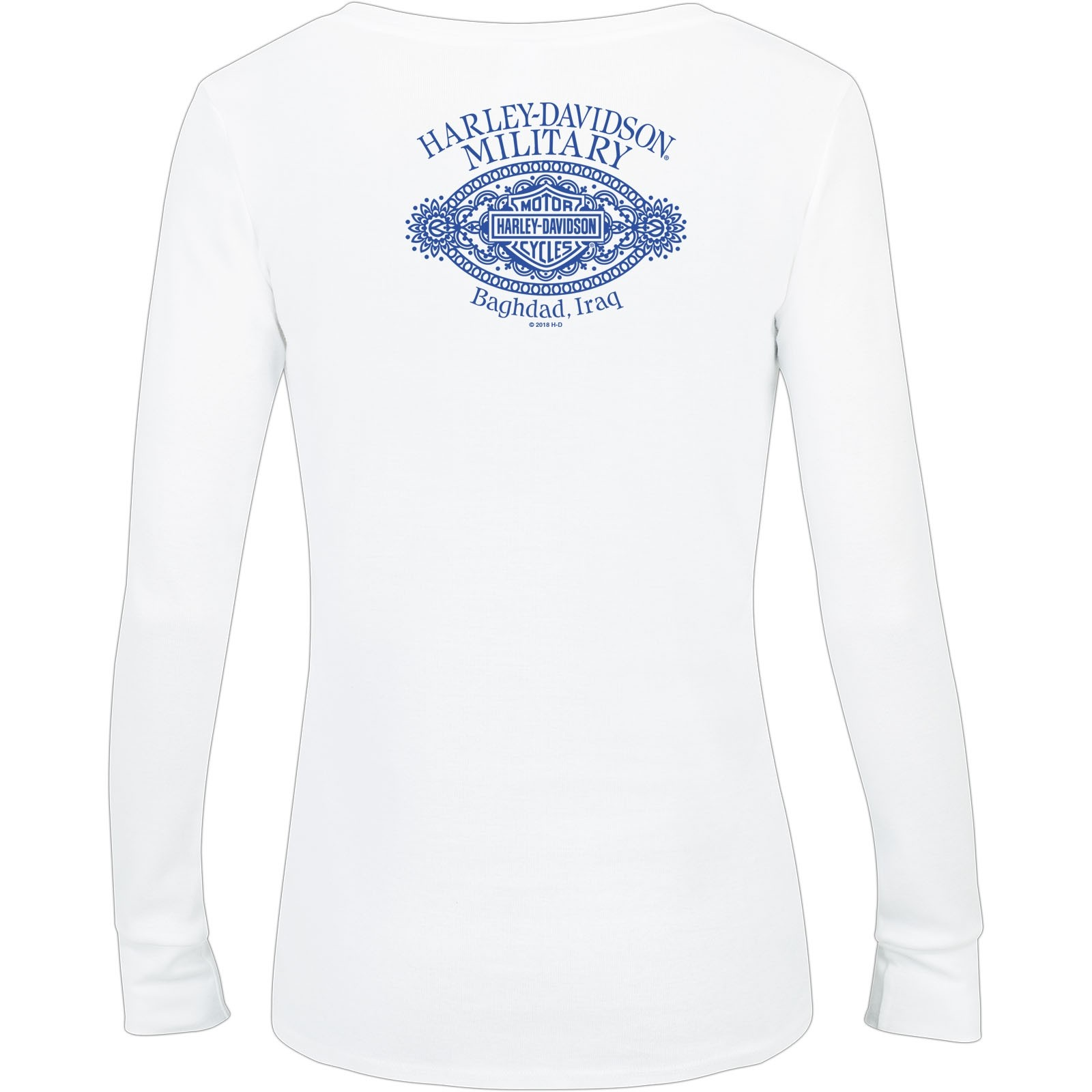 2b2394eea652 Harley-Davidson Women's Long-Sleeve V-Neck Tee - Baghdad   Polished