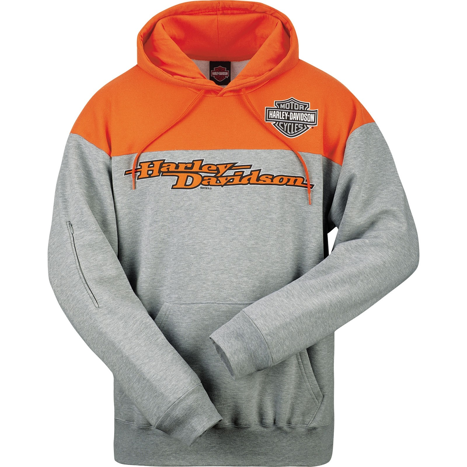 harley davidson pullover hooded sweatshirt with tech. Black Bedroom Furniture Sets. Home Design Ideas