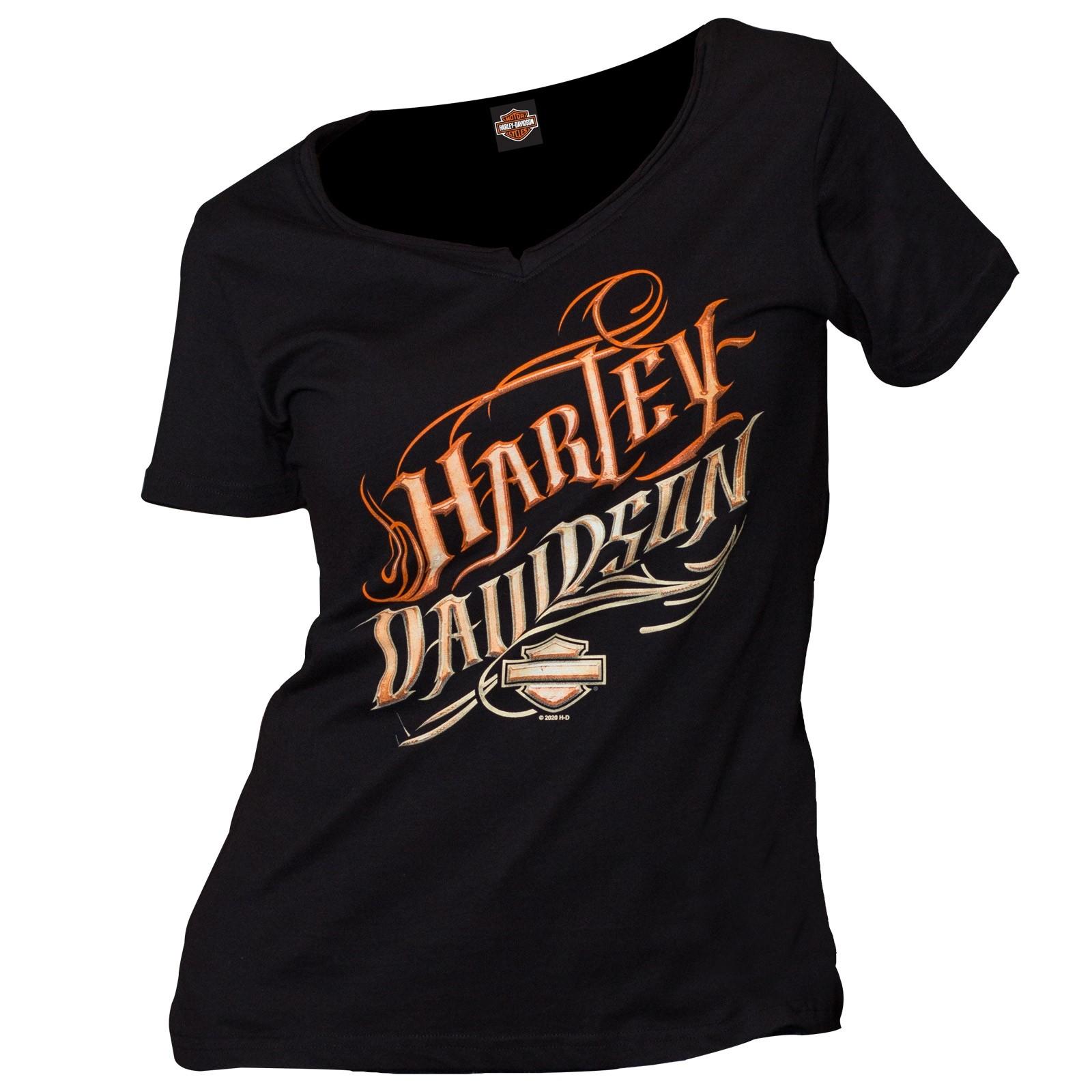 Harley-Davidson Military - Women's Black Graphic V-Neck T-Shirt - Baghdad, Iraq | Be Still