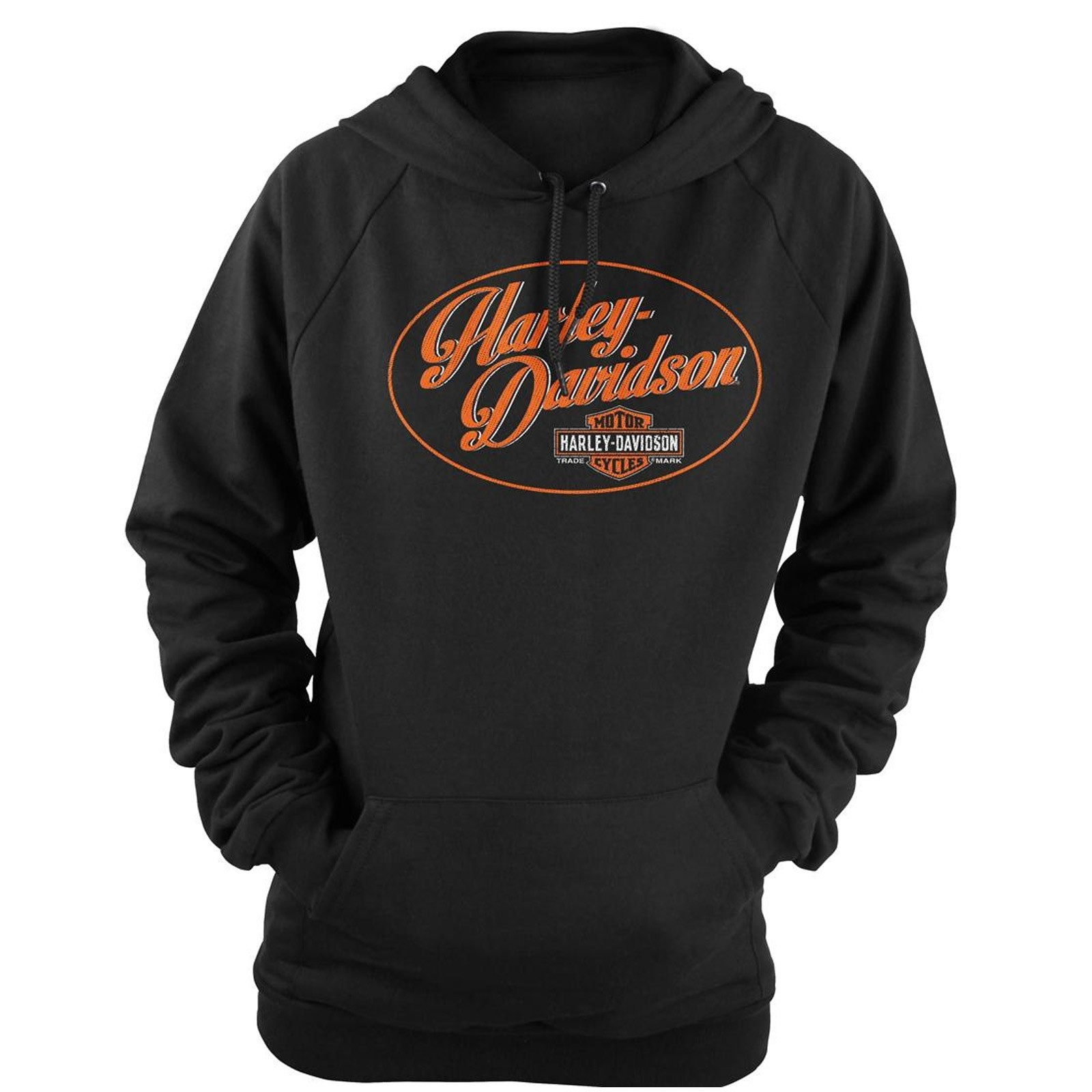 Women's Black Graphic Pullover Hooded Sweatshirt - Overseas Tour | Wow