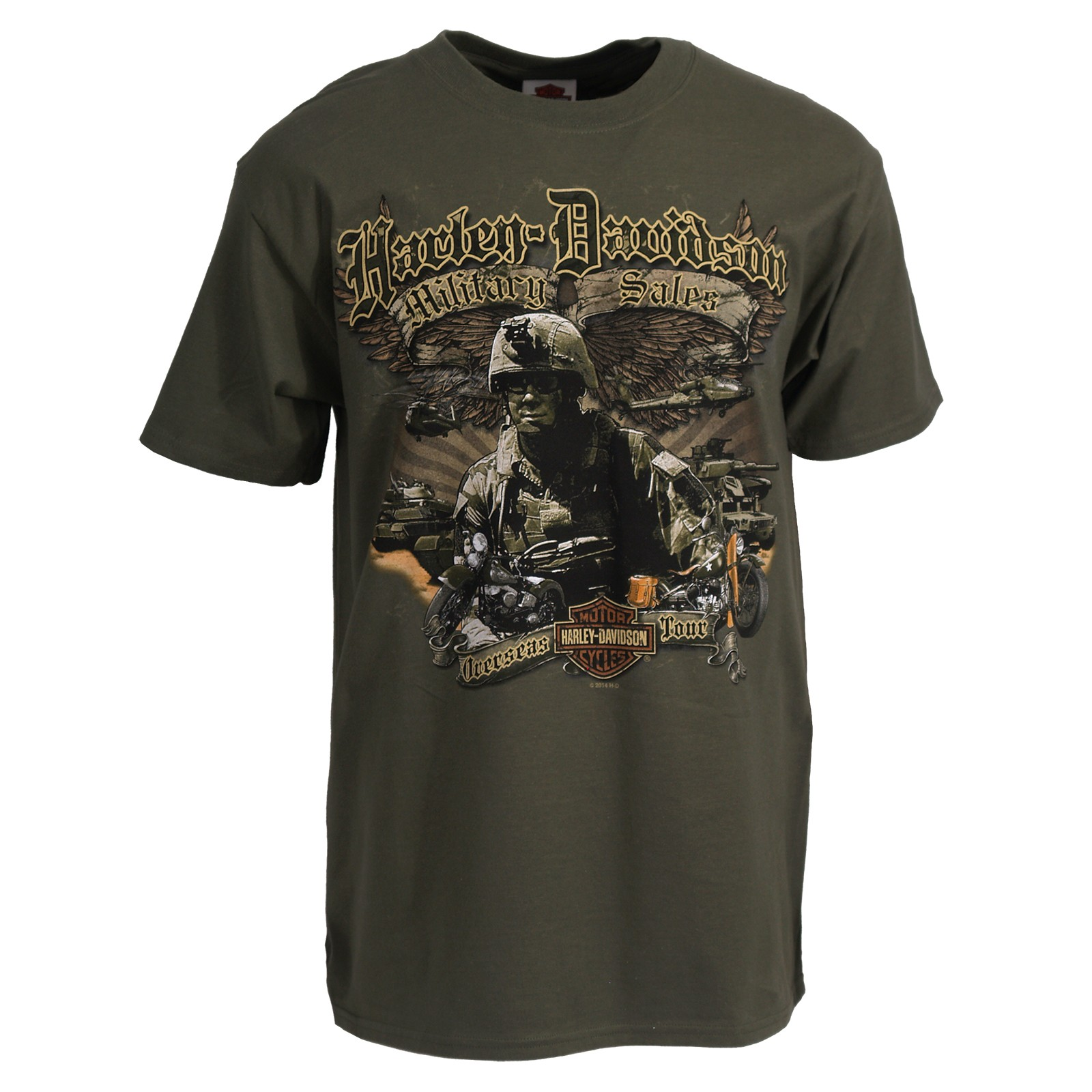 Harley-Davidson Men's Graphic T-Shirt - Winged Patrol  | Overseas Tour
