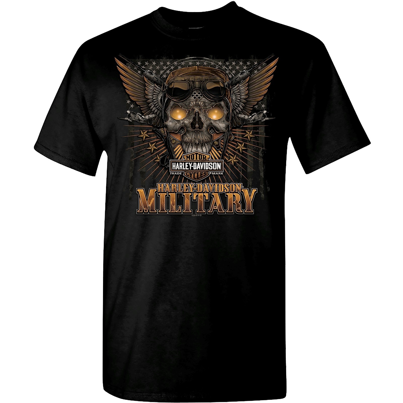 Harley-Davidson Military Men/'s Graphic T-Shirt Overseas TourBattle Skull
