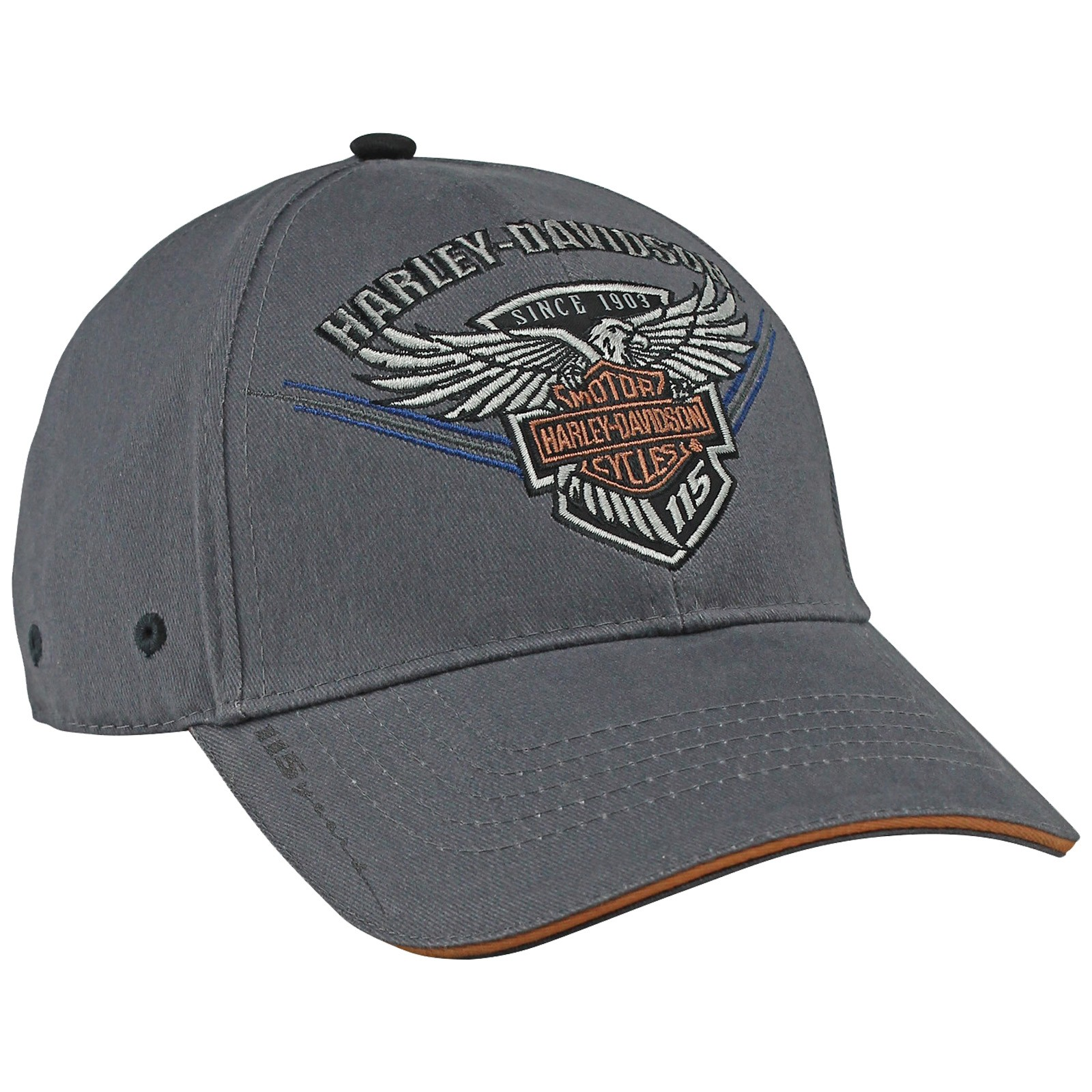 Harley-Davidson 115th Anniversary Edition Ballcap - 115 Eagle | Overseas Tour