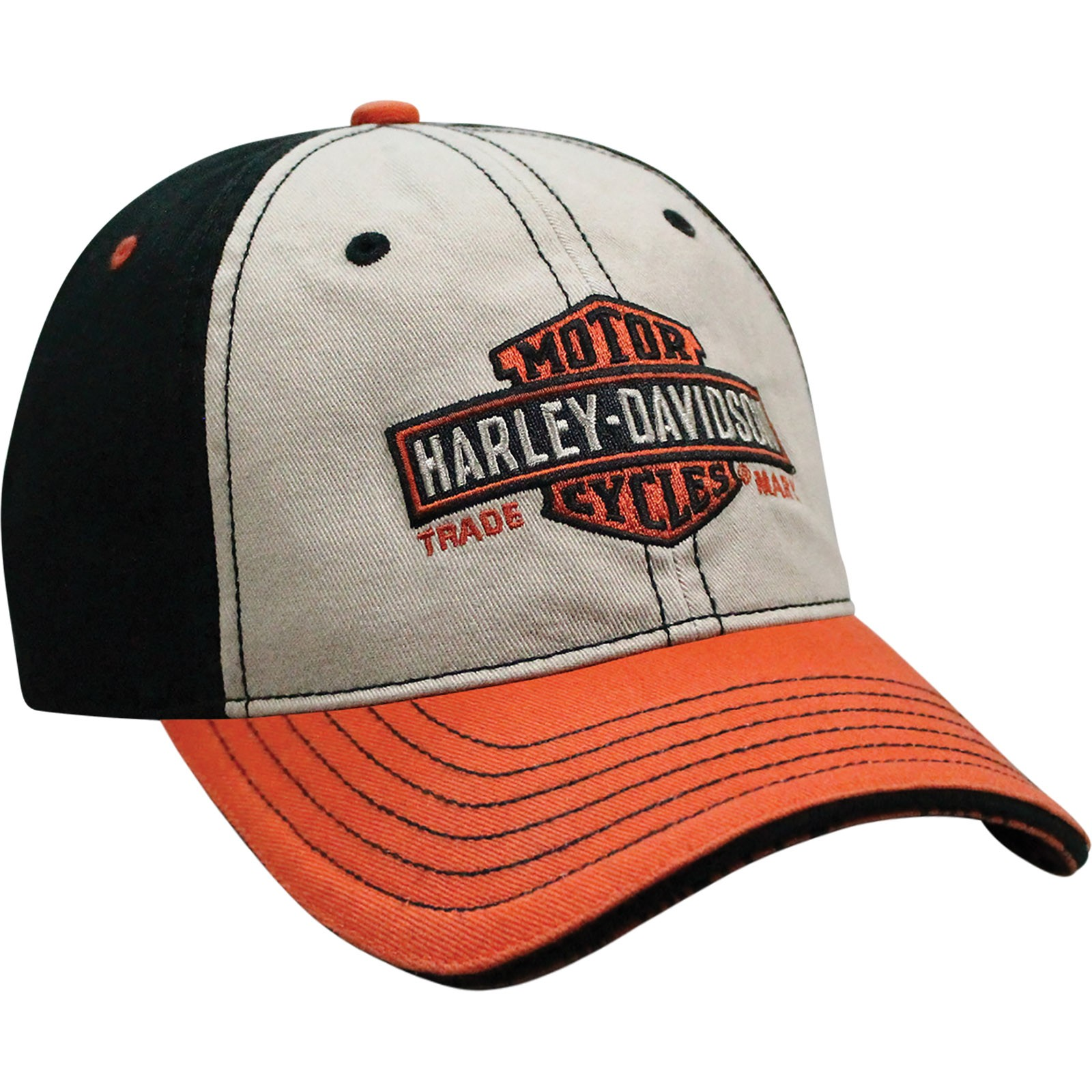 Harley-Davidson Men's Ballcap - Long Bar and Shield | Overseas Tour