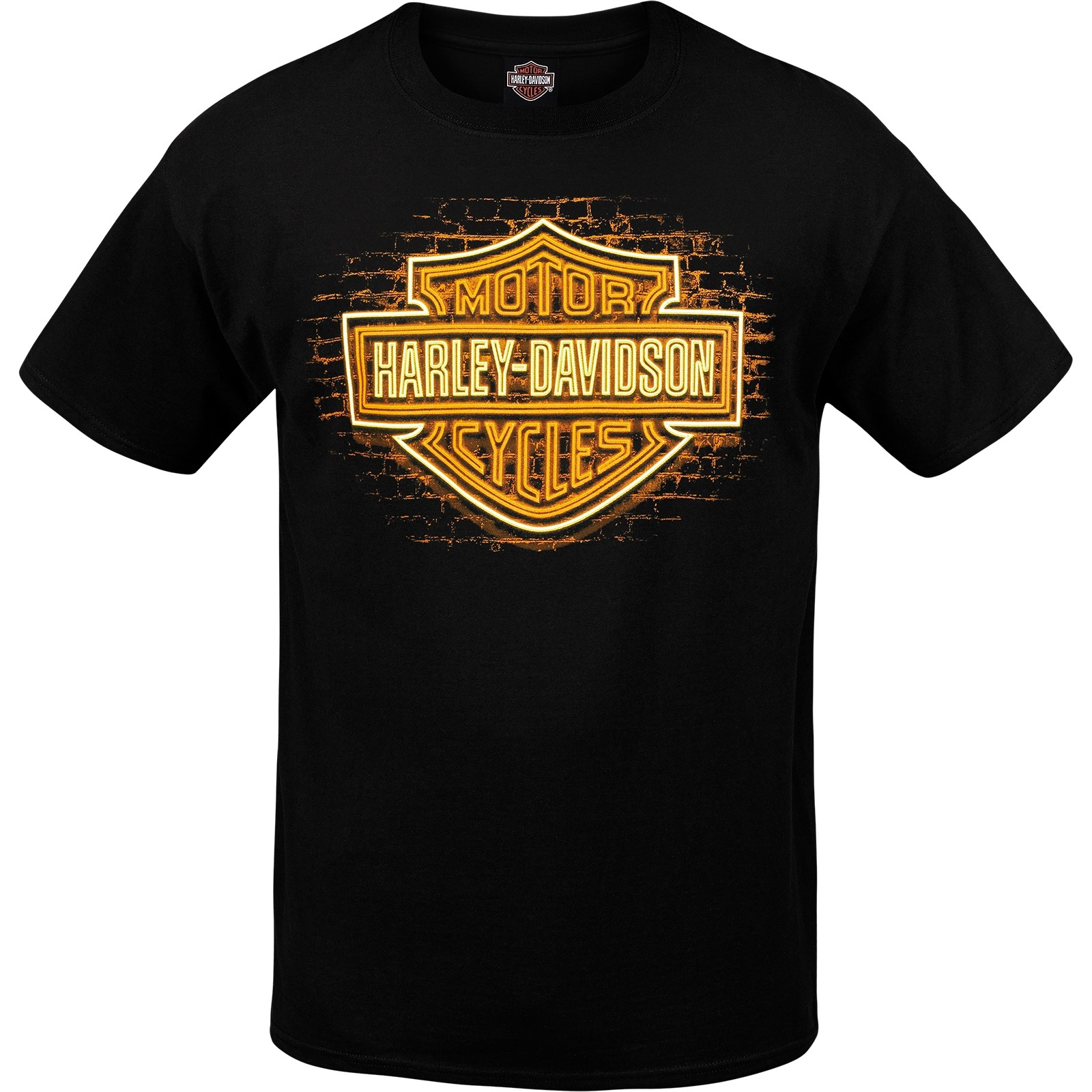 Harley-Davidson Men's Graphic Bar and Shield T-Shirt - USAG Wiesbaden | BS Neon
