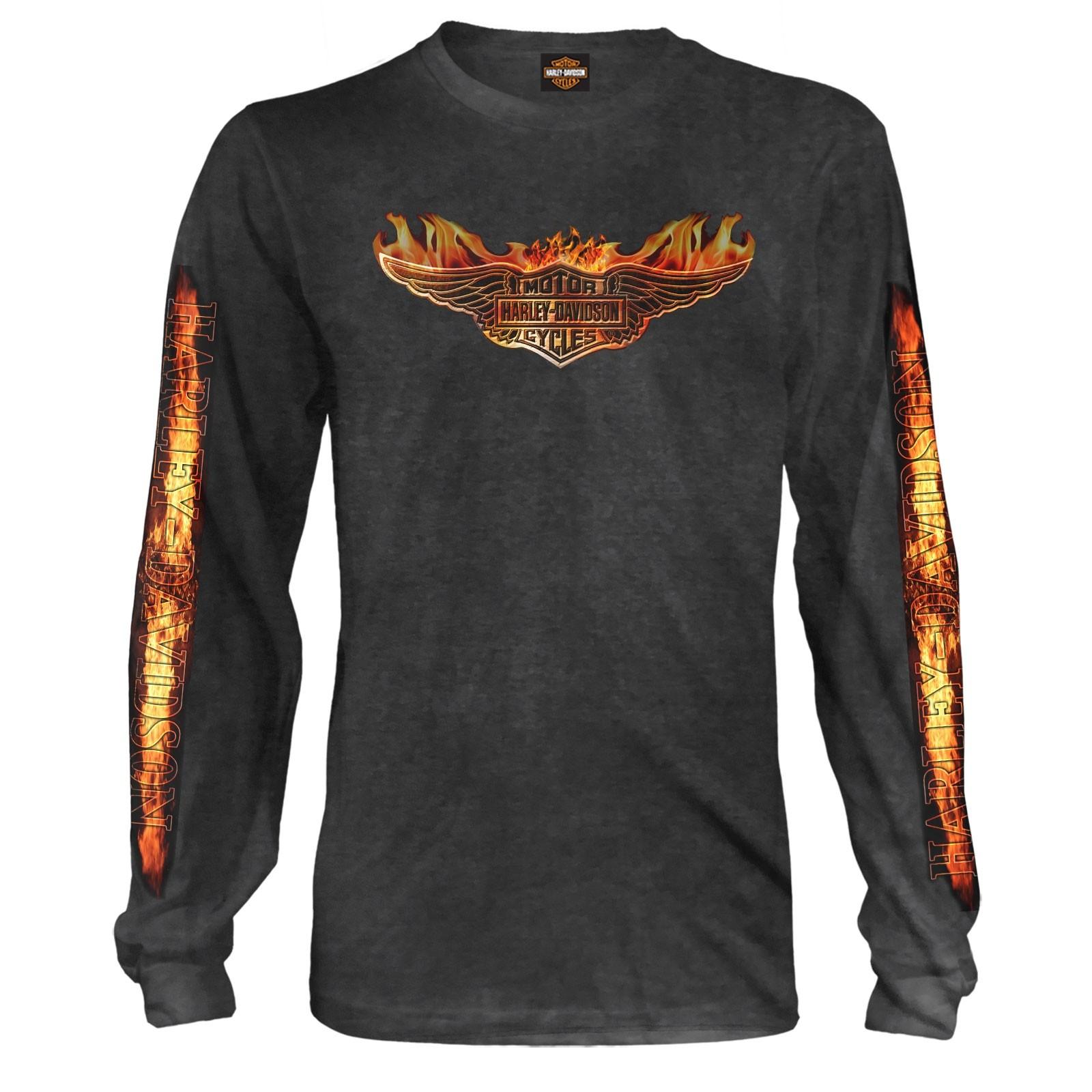 d7da67c03 Harley-Davidson Men's Long-Sleeve Graphic Tee - Bagram Air Base   Burning