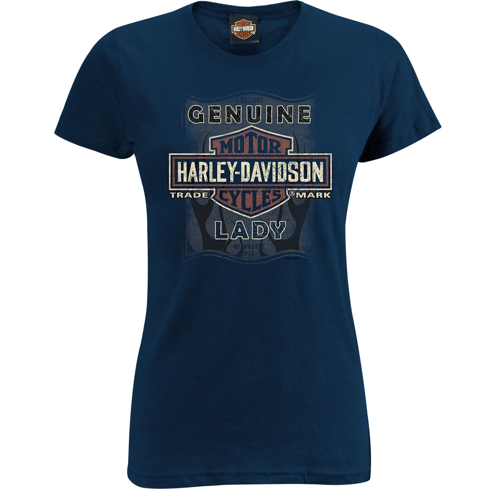 Harley-Davidson Women's Slim Fit Scoop Neck Tee - Camp Lemonnier | Classic Wash