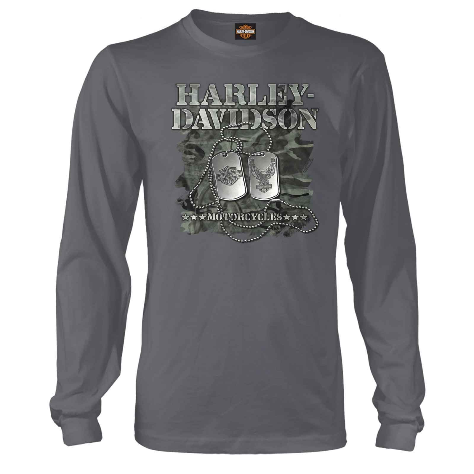 Harley-Davidson Men's Long-Sleeve T-Shirt - Military Dog Tags | Overseas Tour