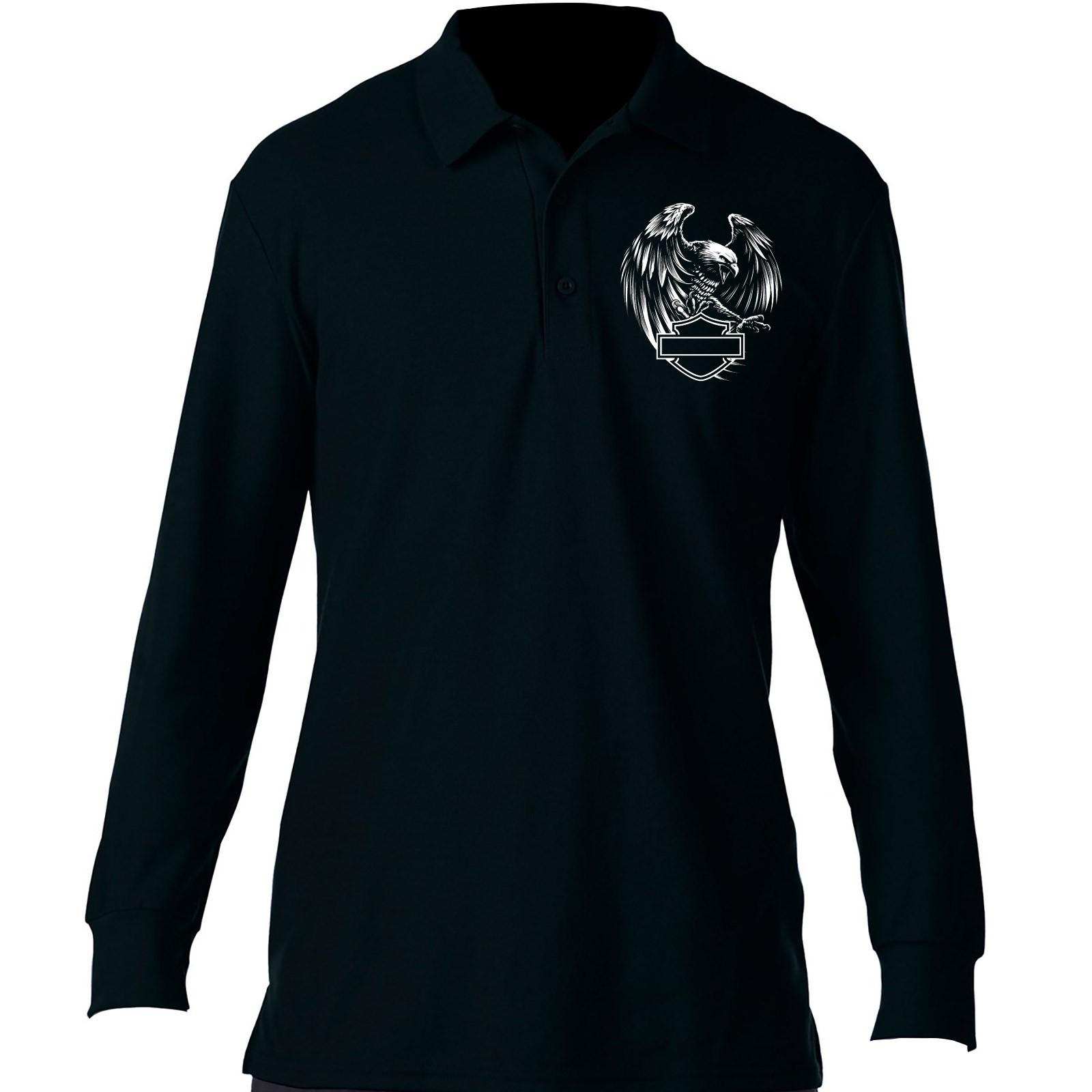 5b80846ba9f Harley-Davidson Men's Long-Sleeve Sport Shirt - Overseas Tour | Eagle Polo