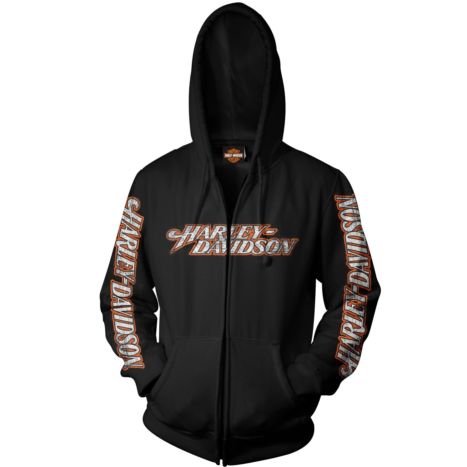 Harley-Davidson Zippered Hooded Sweatshirt - Overseas Tour | Everlong