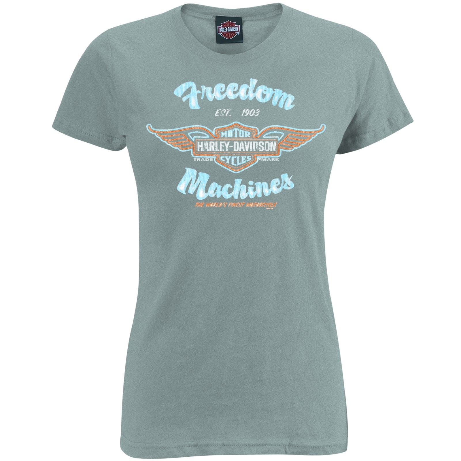Harley-Davidson Women's Slim Fit Scoop Neck Tee - USAG Yongsan | Freedom Machines