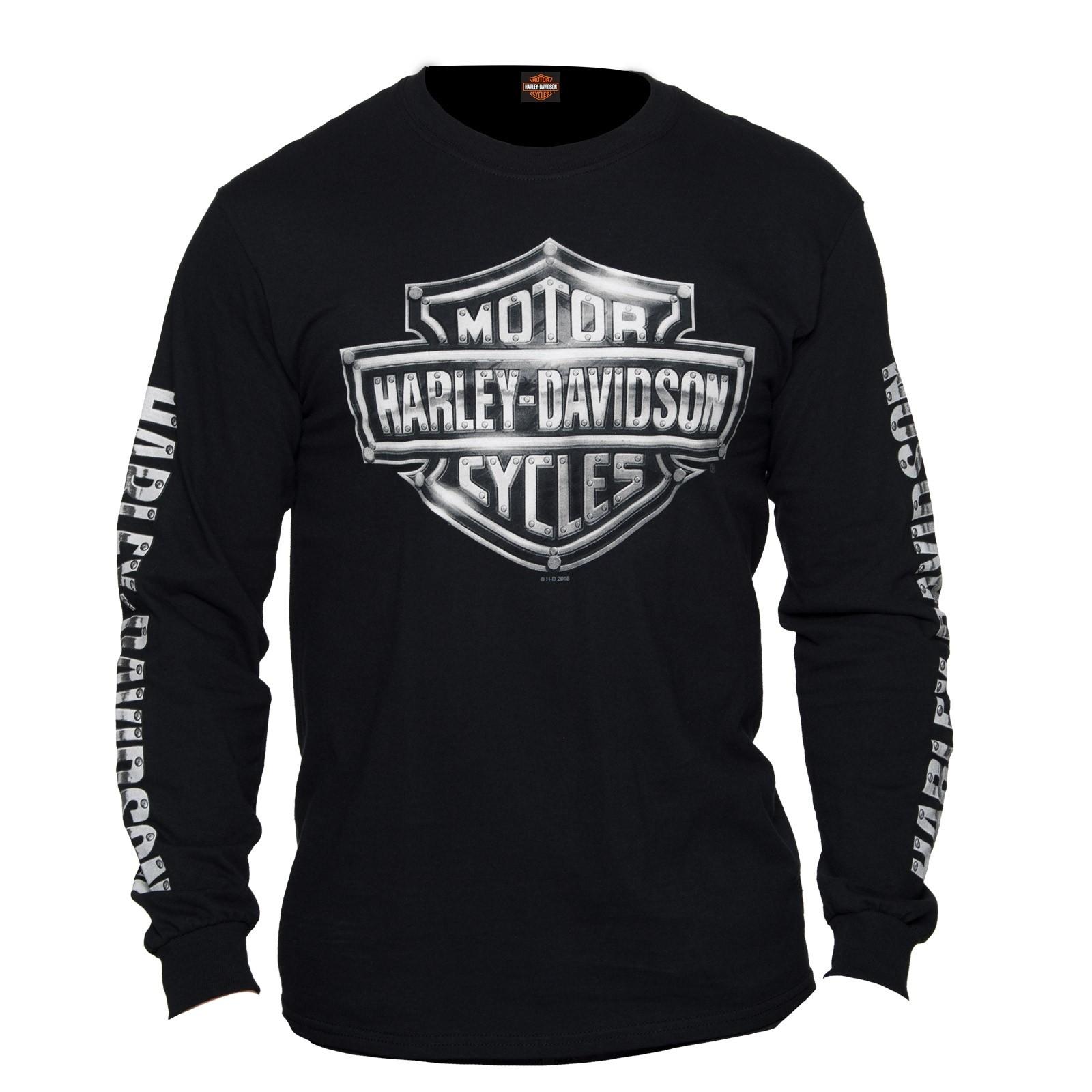Harley-Davidson Men's Long-Sleeve Tee - USAG Yongsan | Harley Chrome