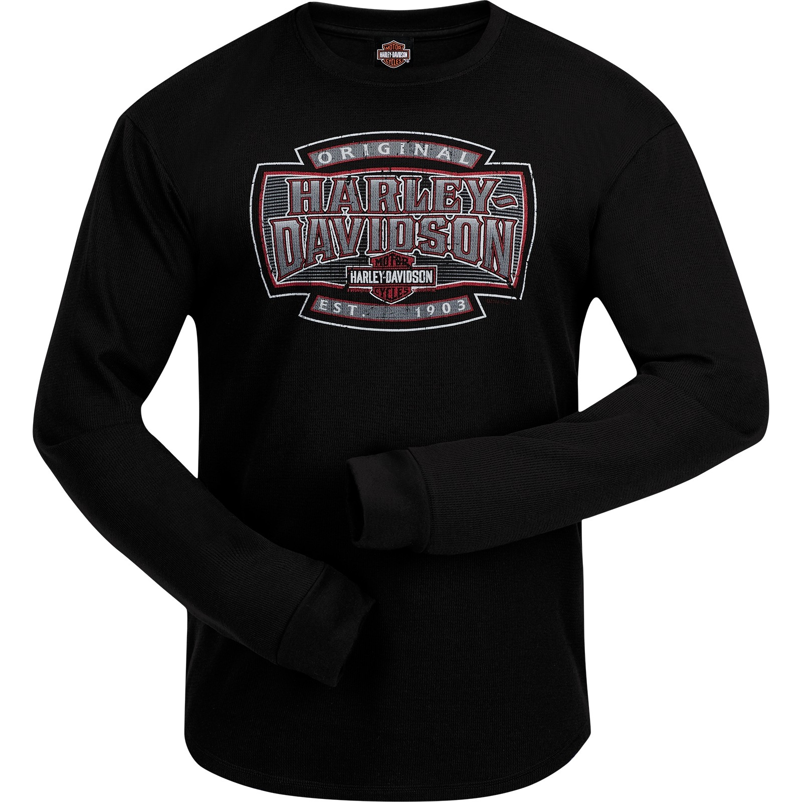 Harley-Davidson Men's Long Sleeve Thermal Shirt with Round Hem - Ramstein Air Base | H-D Shield