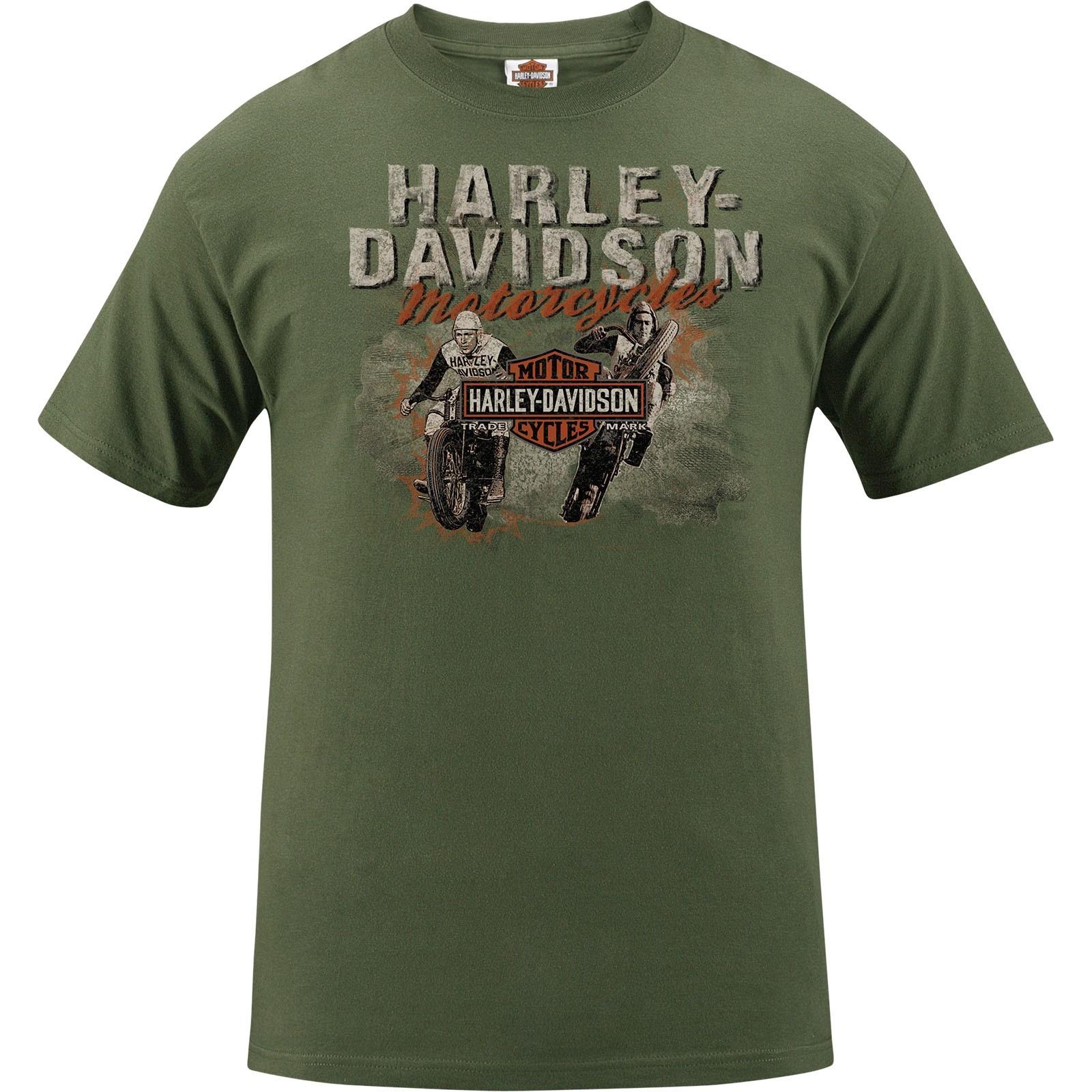 Harley-Davidson Men's Short-Sleeve Tee - NSA Naples   Hill Racers