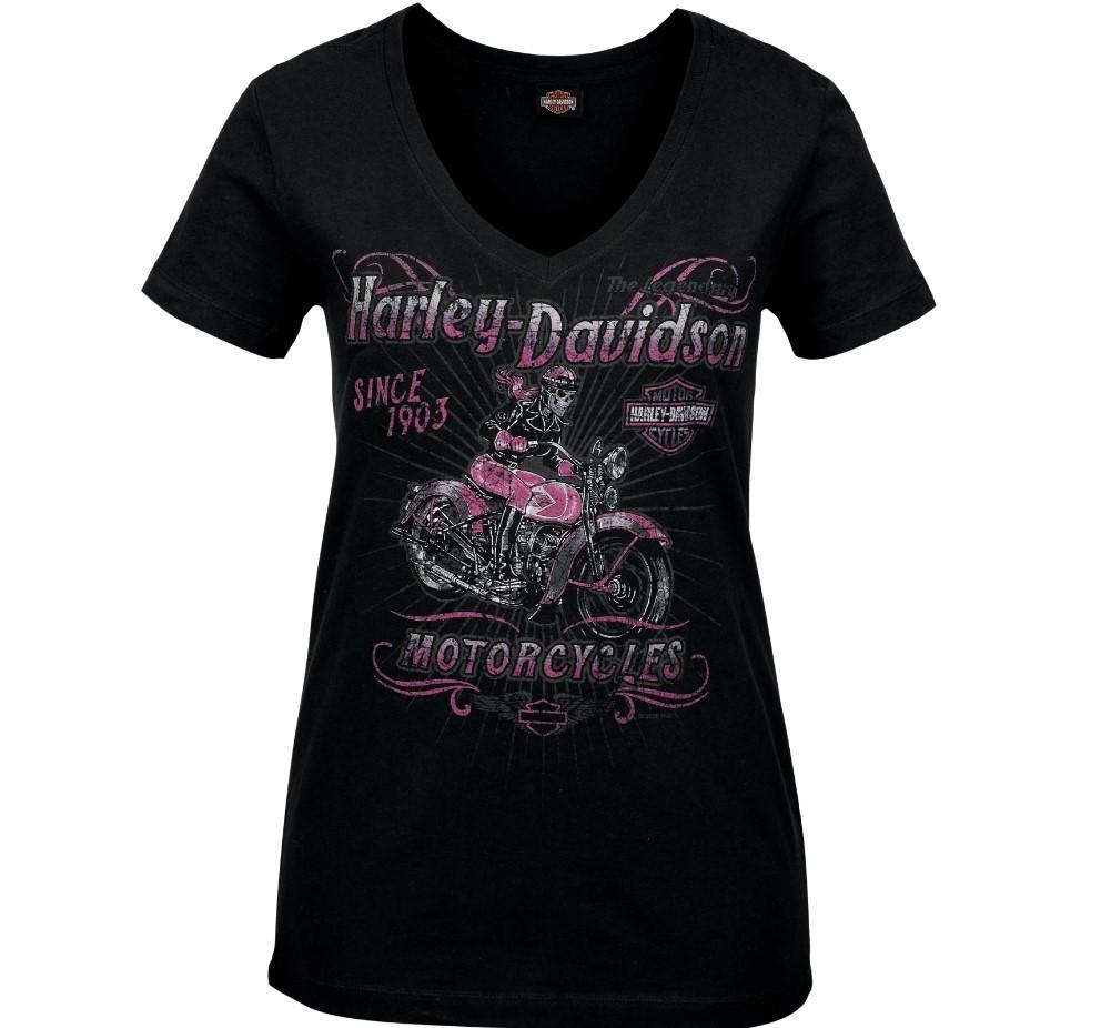 Women's Skull Graphic V-Neck T-Shirt - Camp Leatherneck | Hitch