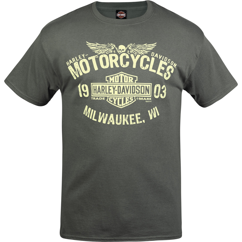 Harley-Davidson Men's Graphic T-Shirt - NSA Bahrain | MC Logo