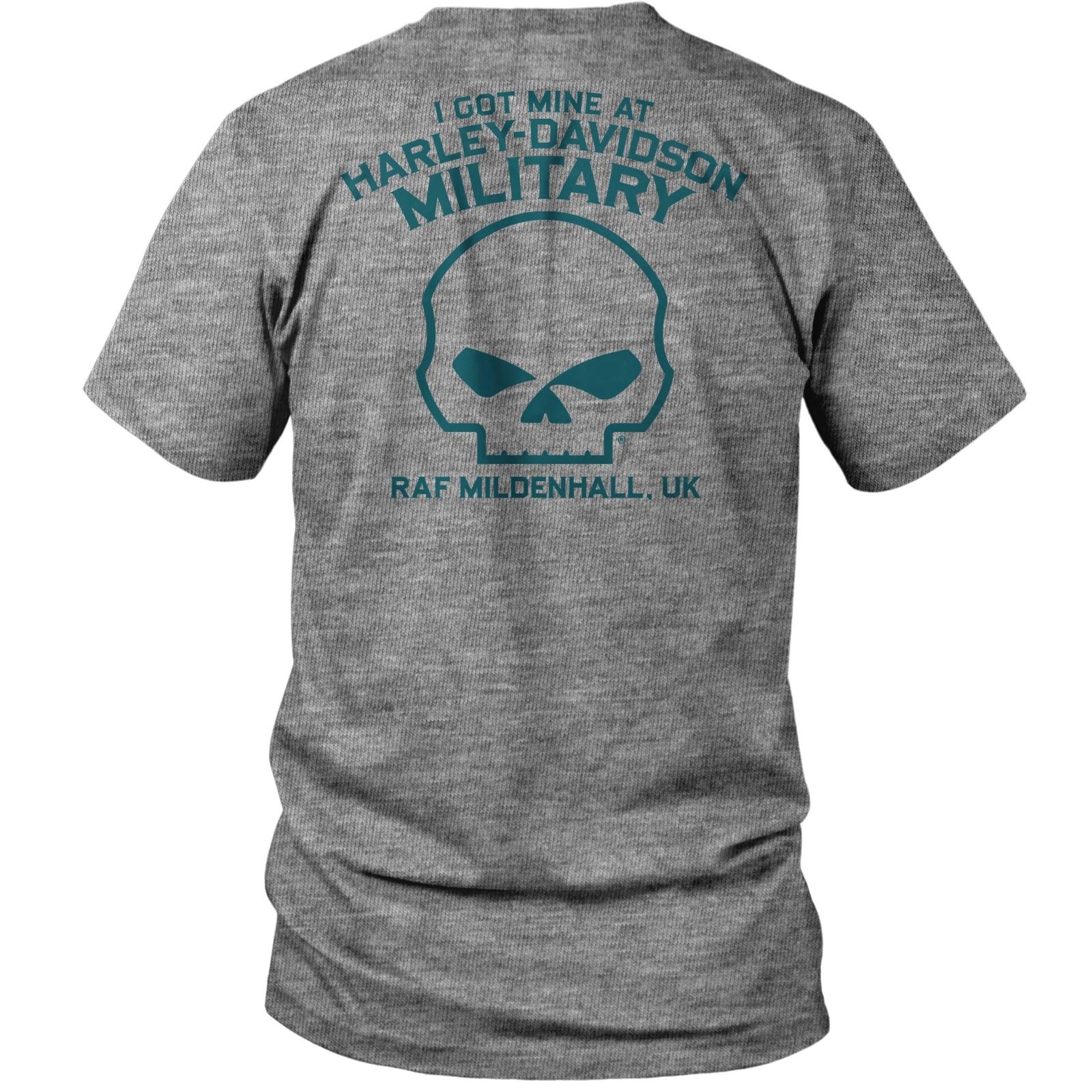 Harley-Davidson Men's Tri-Blend T-Shirt - RAF Mildenhall | Motorclub