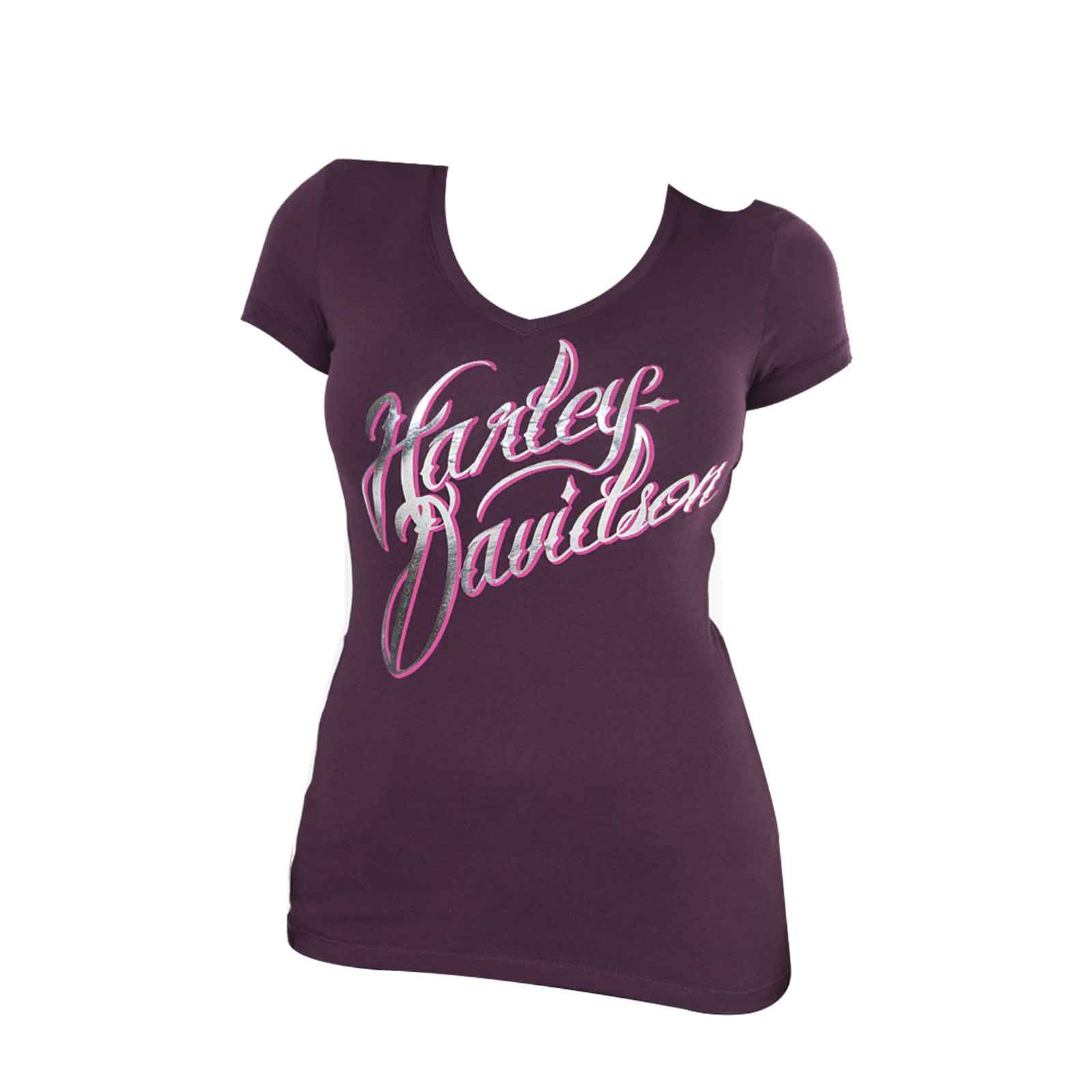 Harley-Davidson Ladies Short-Sleeve V-Neck T-Shirt - Oasis | Al Udeid AB