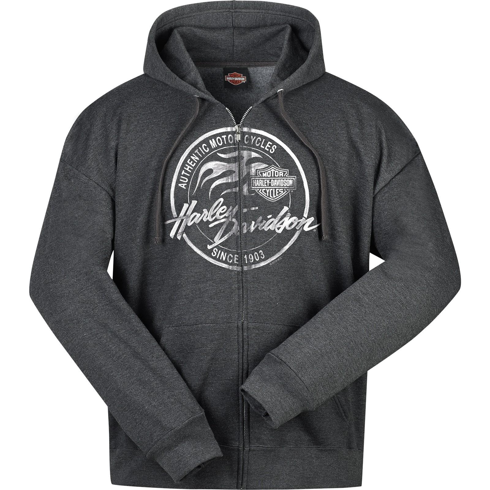 Men's Charcoal Heather Hooded Zippered Sweatshirt - Overseas Tour | Paint Logo