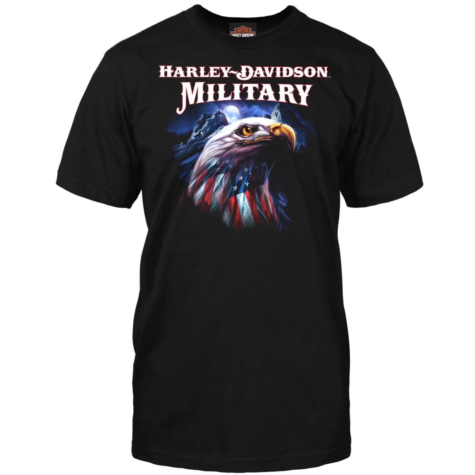 Harley-Davidson Men's Graphic Short-Sleeve T-Shirt - Overseas Tour   Patriot Eagle