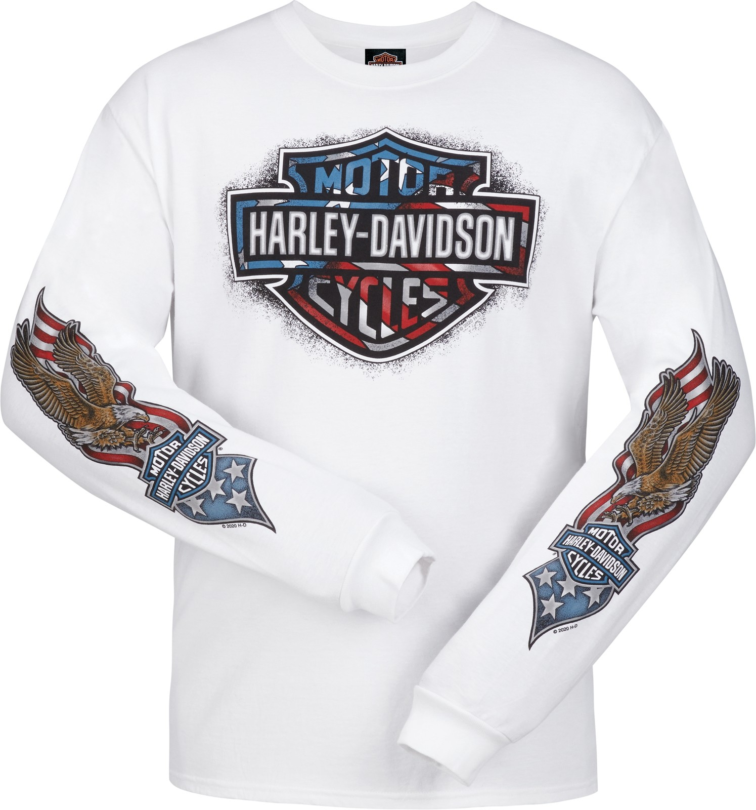Men's White Patriotic Graphic Long-Sleeve T-Shirt - Camp Foster | Patriotic Wave