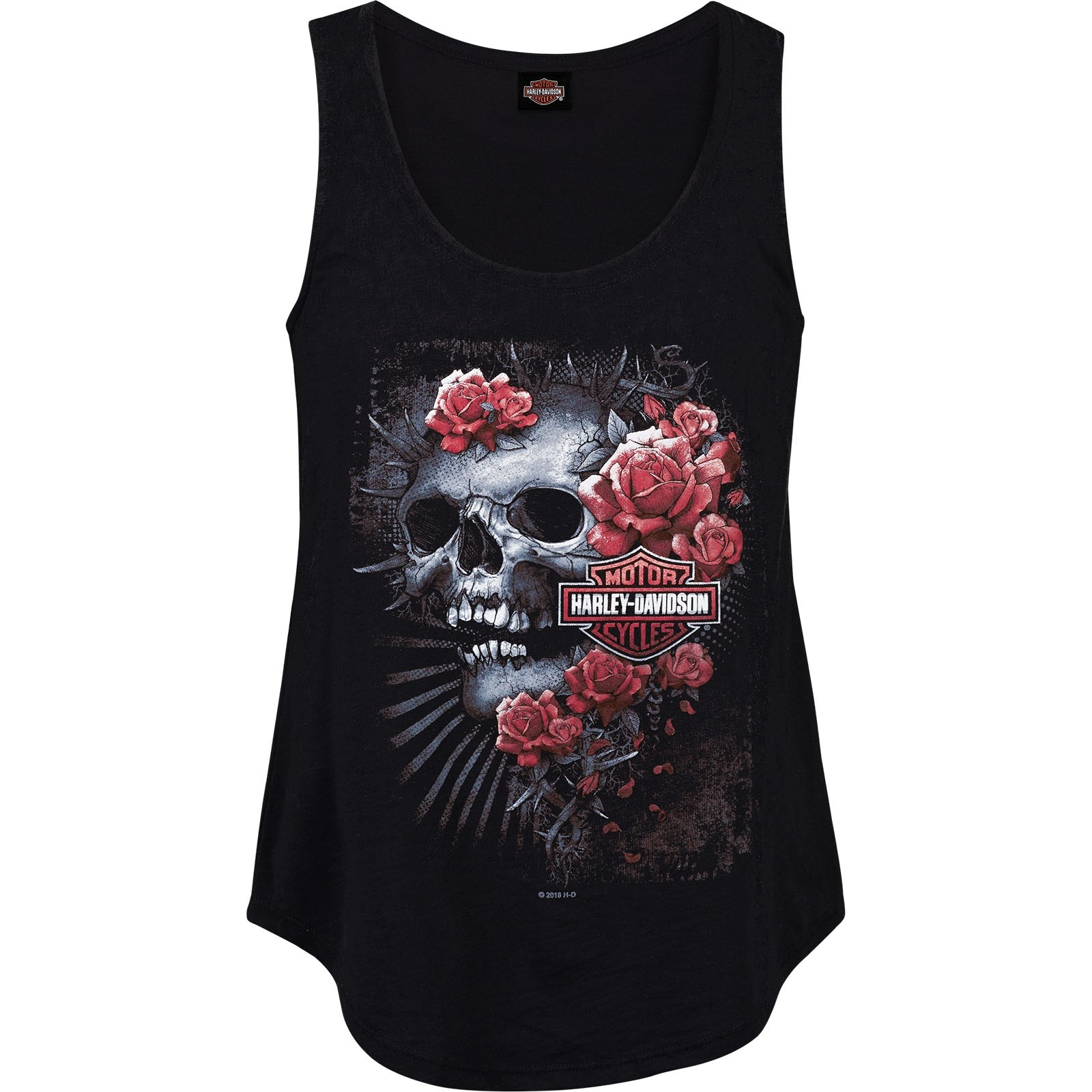 Harley-Davidson Women's Scoop Neck Slub Tank - Yokosuka | Pinnacle