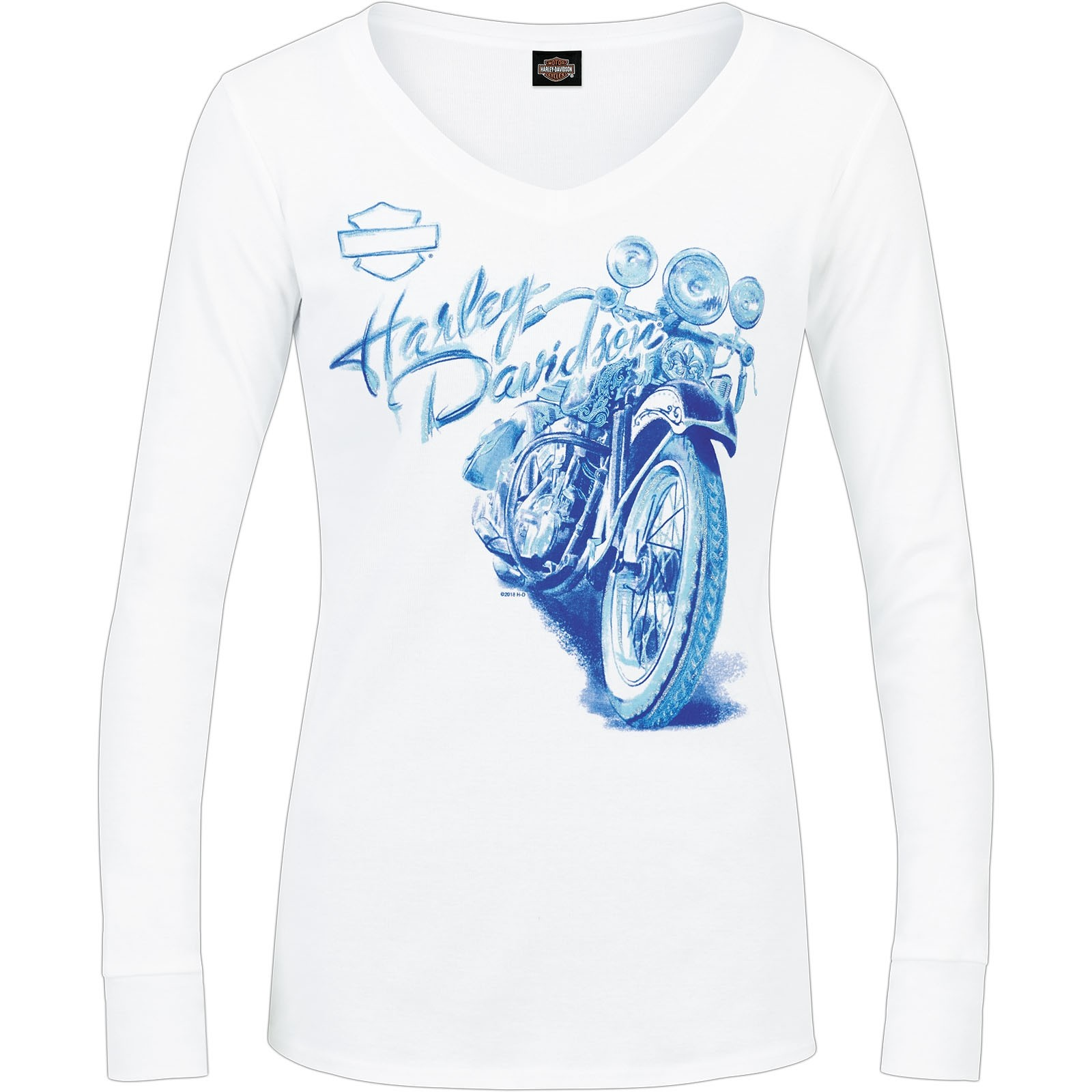 Harley-Davidson Women's Long-Sleeve V-Neck Tee - Baghdad | Polished
