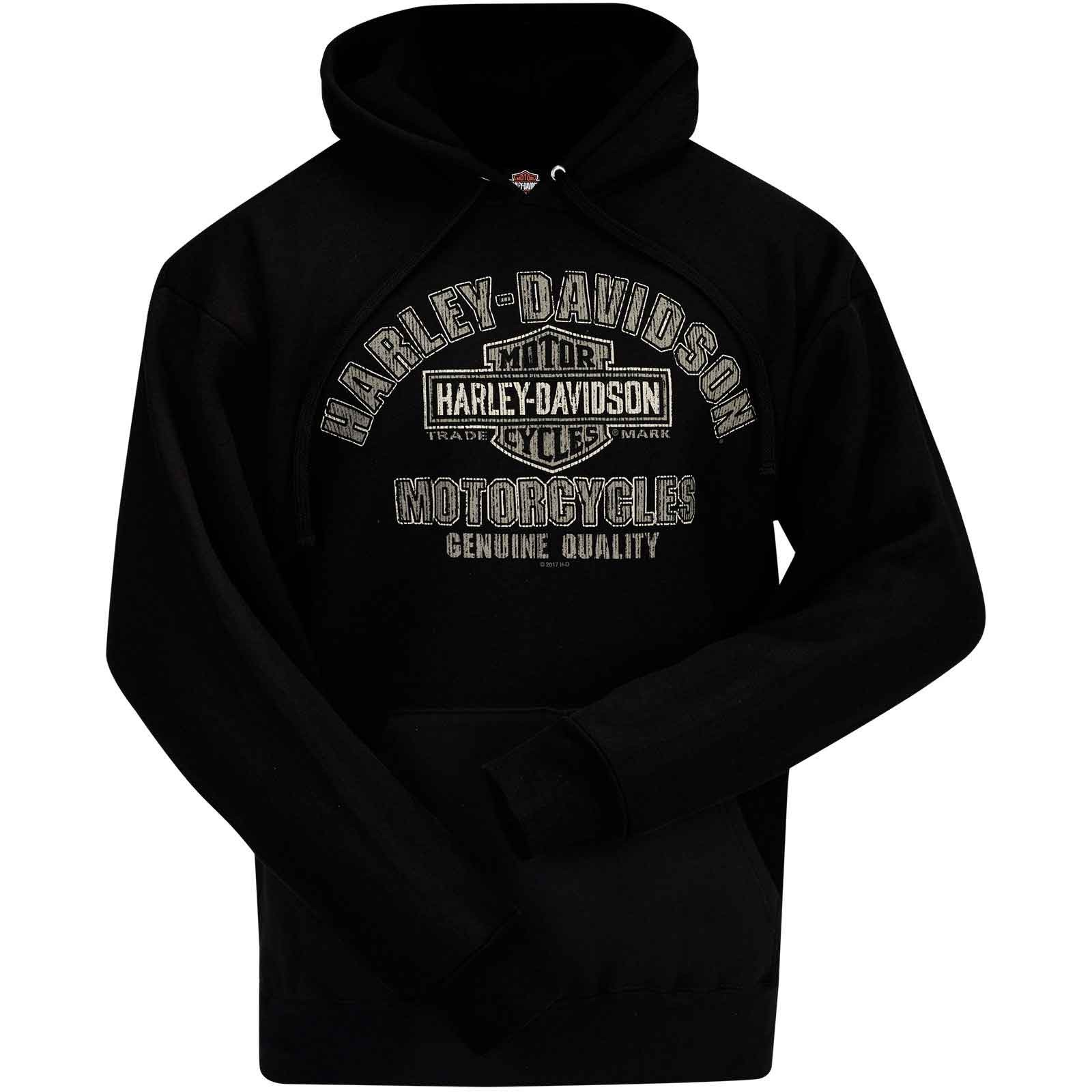 Harley Davidson Military Hooded Pullover Sweatshirt Quality Name | Overseas Tour
