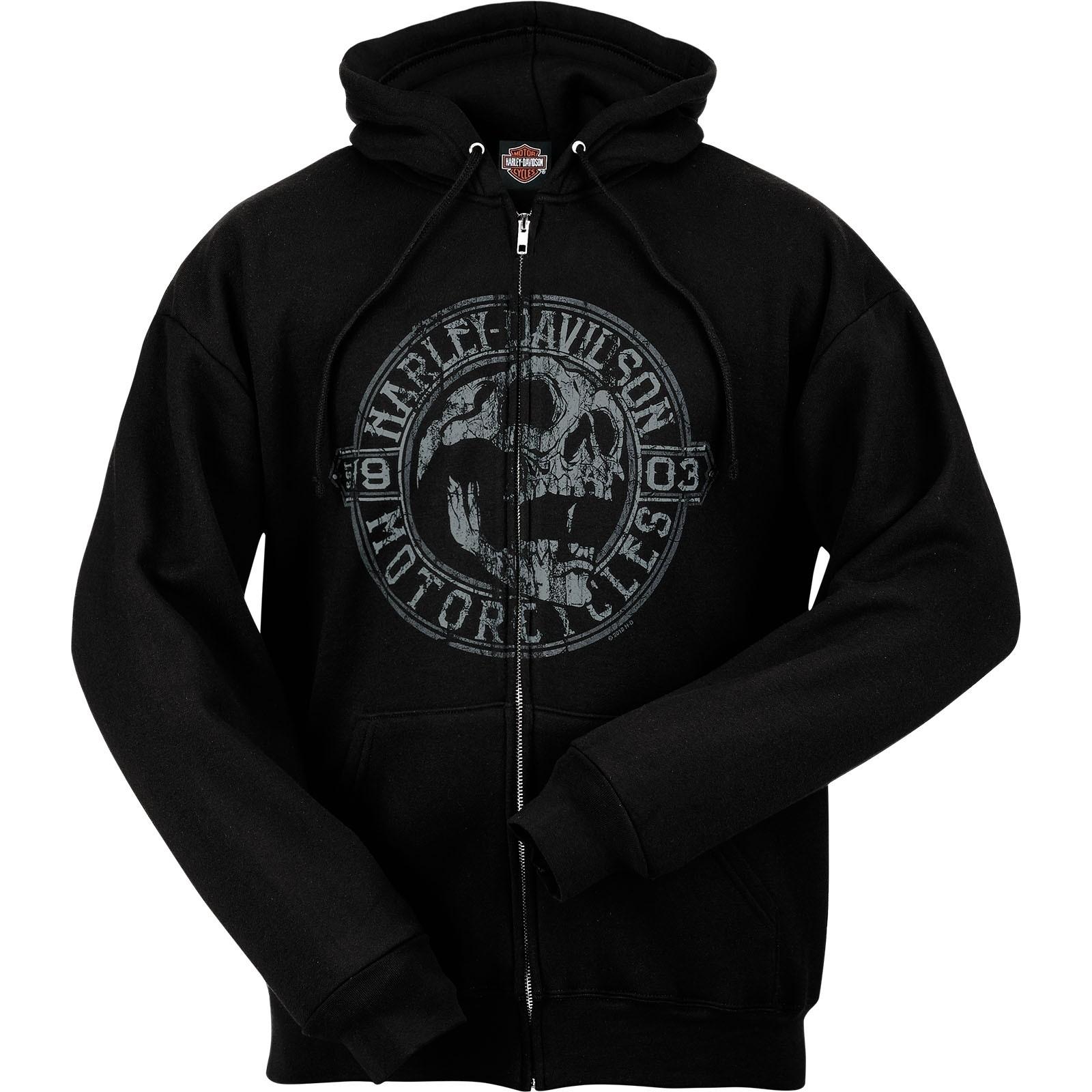 Harley-Davidson Men's Hooded Zip Sweatshirt - Overseas Tour | Skull Shout