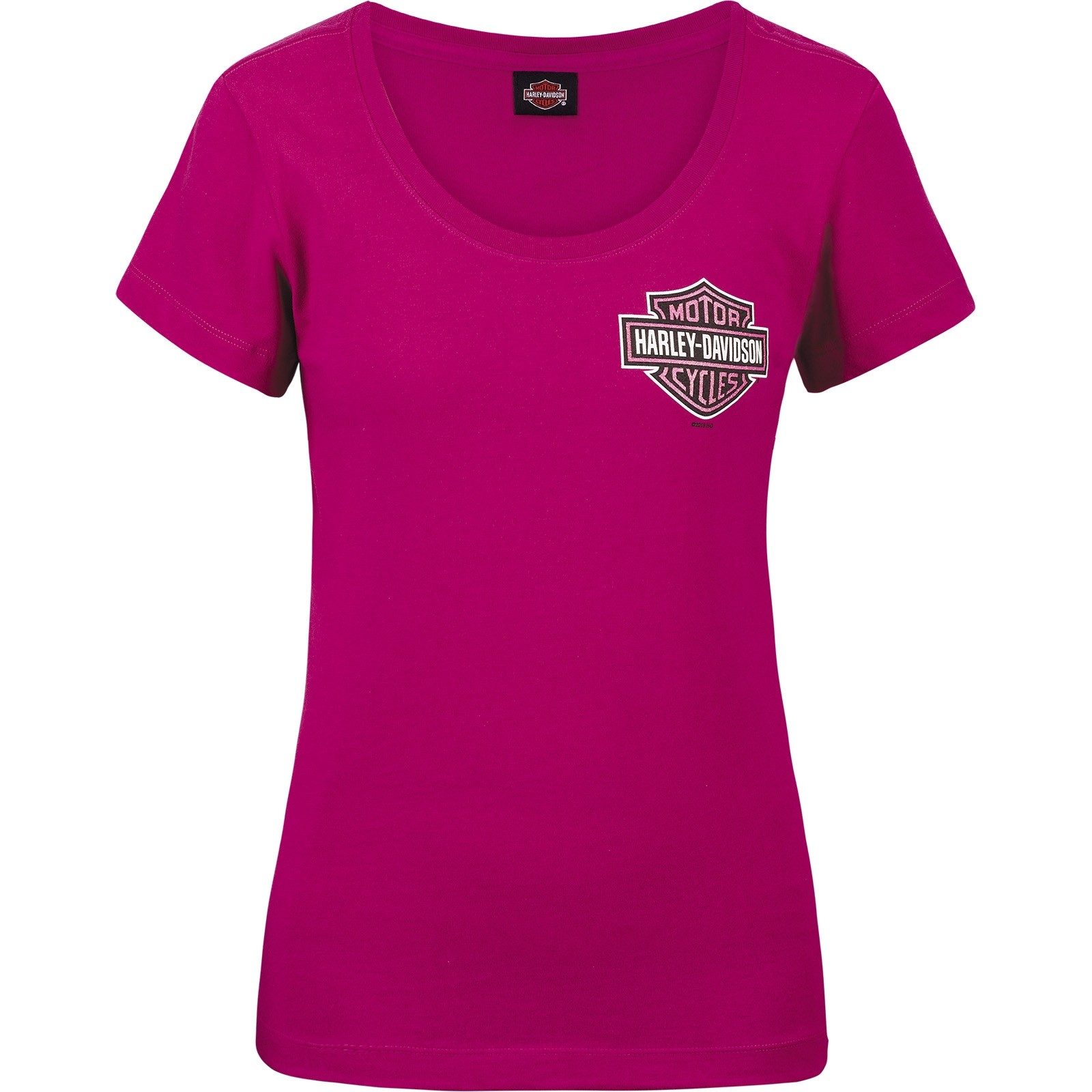 Harley-Davidson Military - Women's Scoop Neck T-shirt - Aviano Air Base | Berry Logo