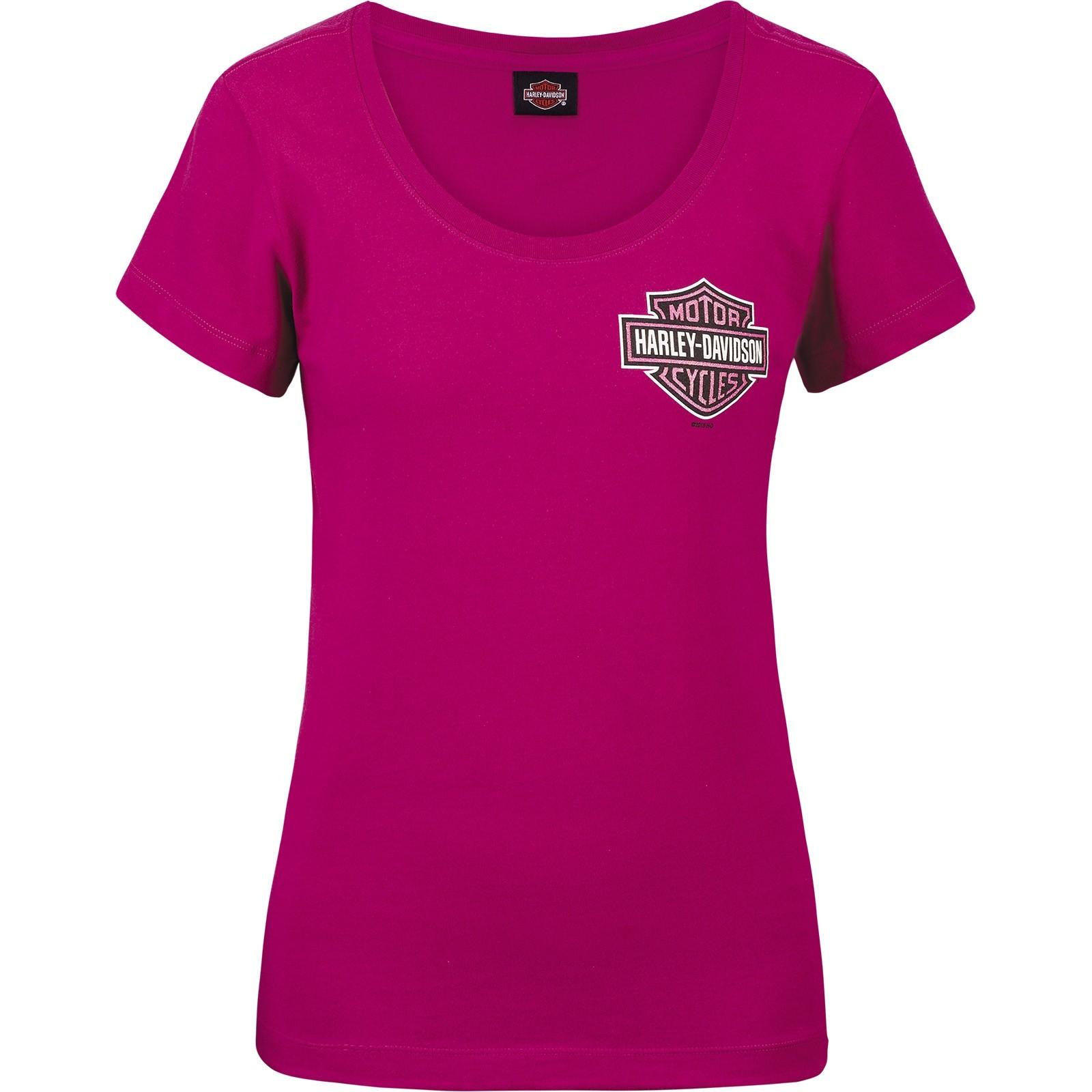 Harley-Davidson Military Women's Scoop Neck T-shirt - Aviano Air Base | Berry Logo