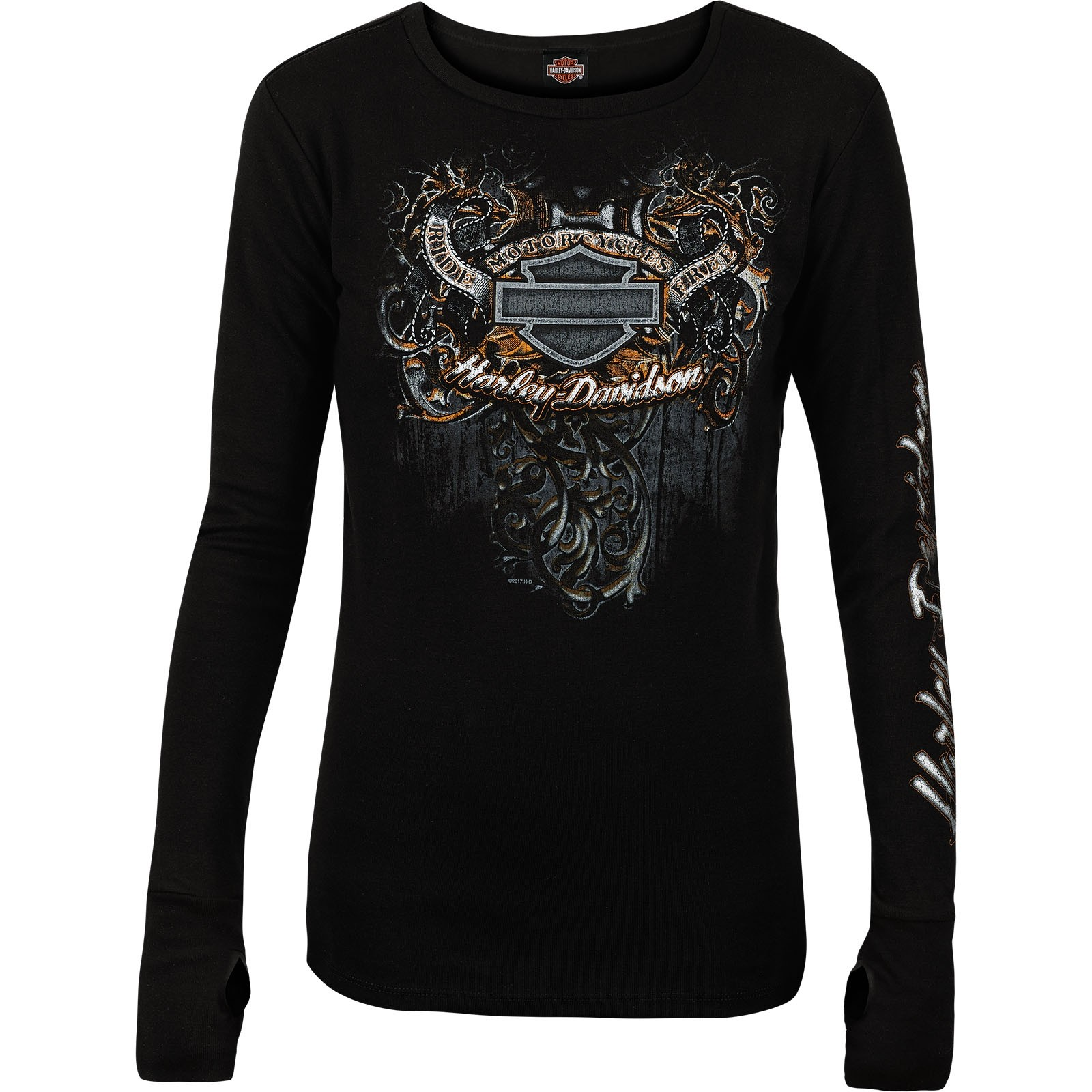 Harley-Davidson Women's Long-Sleeve Tee - Camp Humphreys | Worn Banner