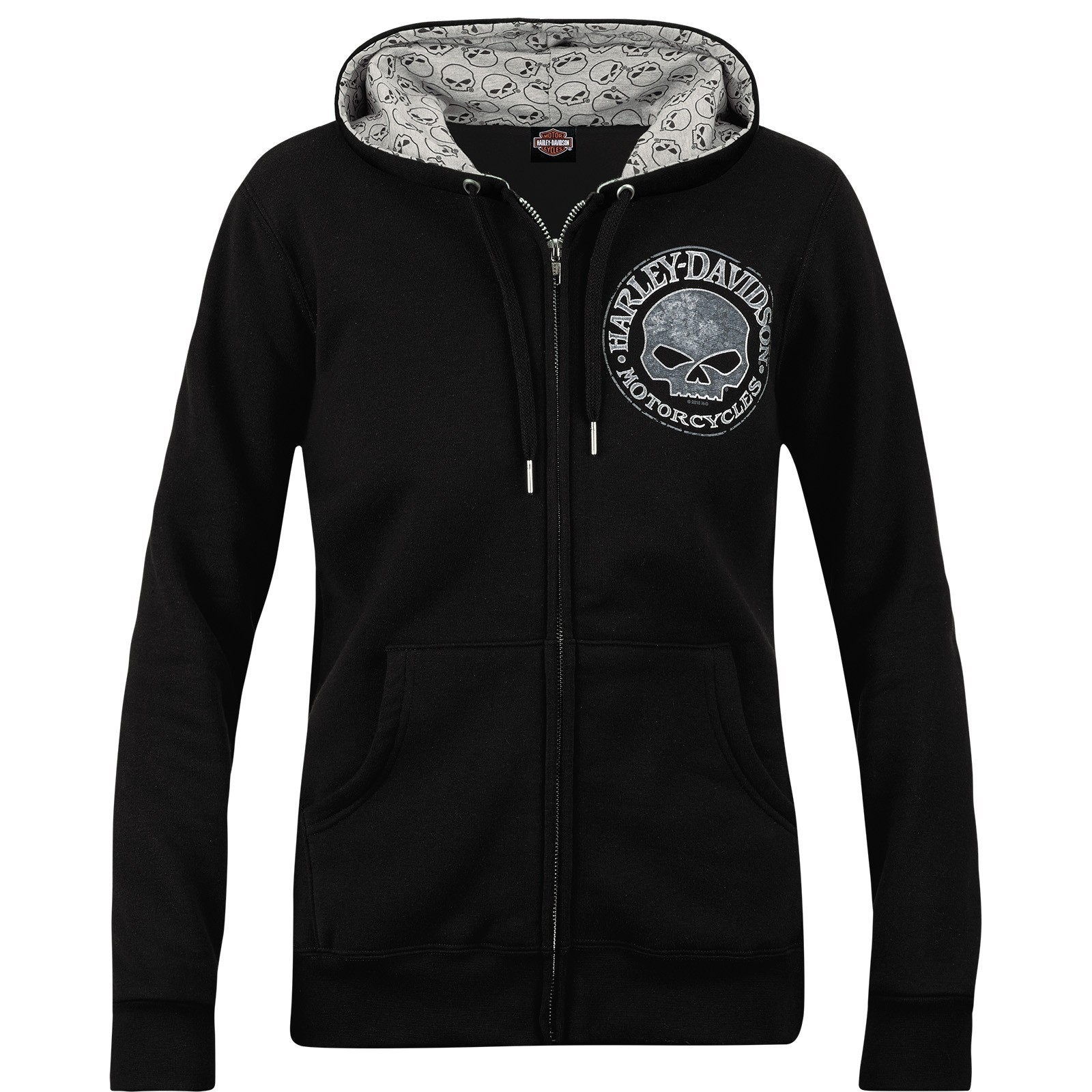 Harley-Davidson Military Women's Zippered Printed Hoodie - Overseas Tour | Sparkle G