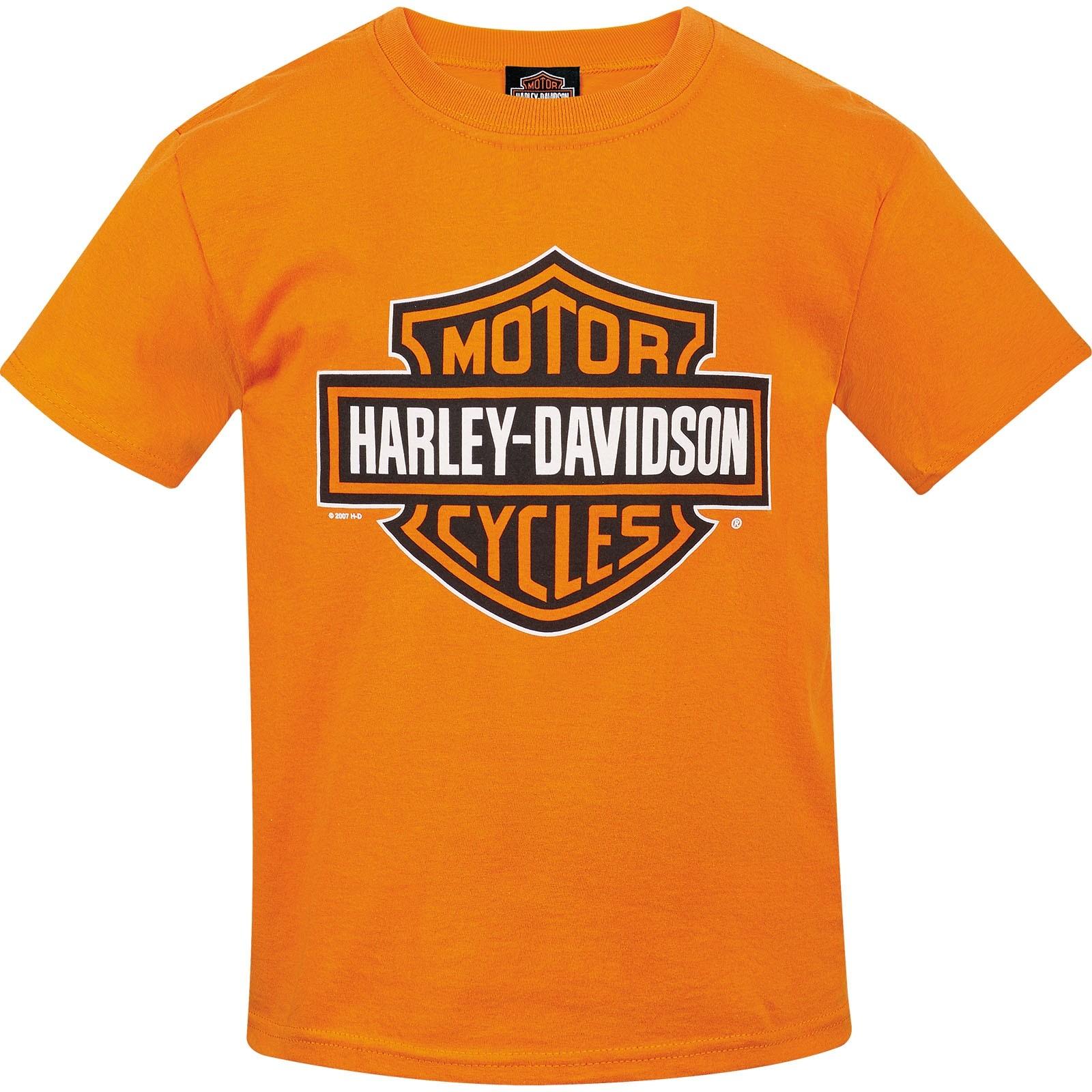 Kids Bar & Shield Graphic Orange T-shirt | Camp Humphreys