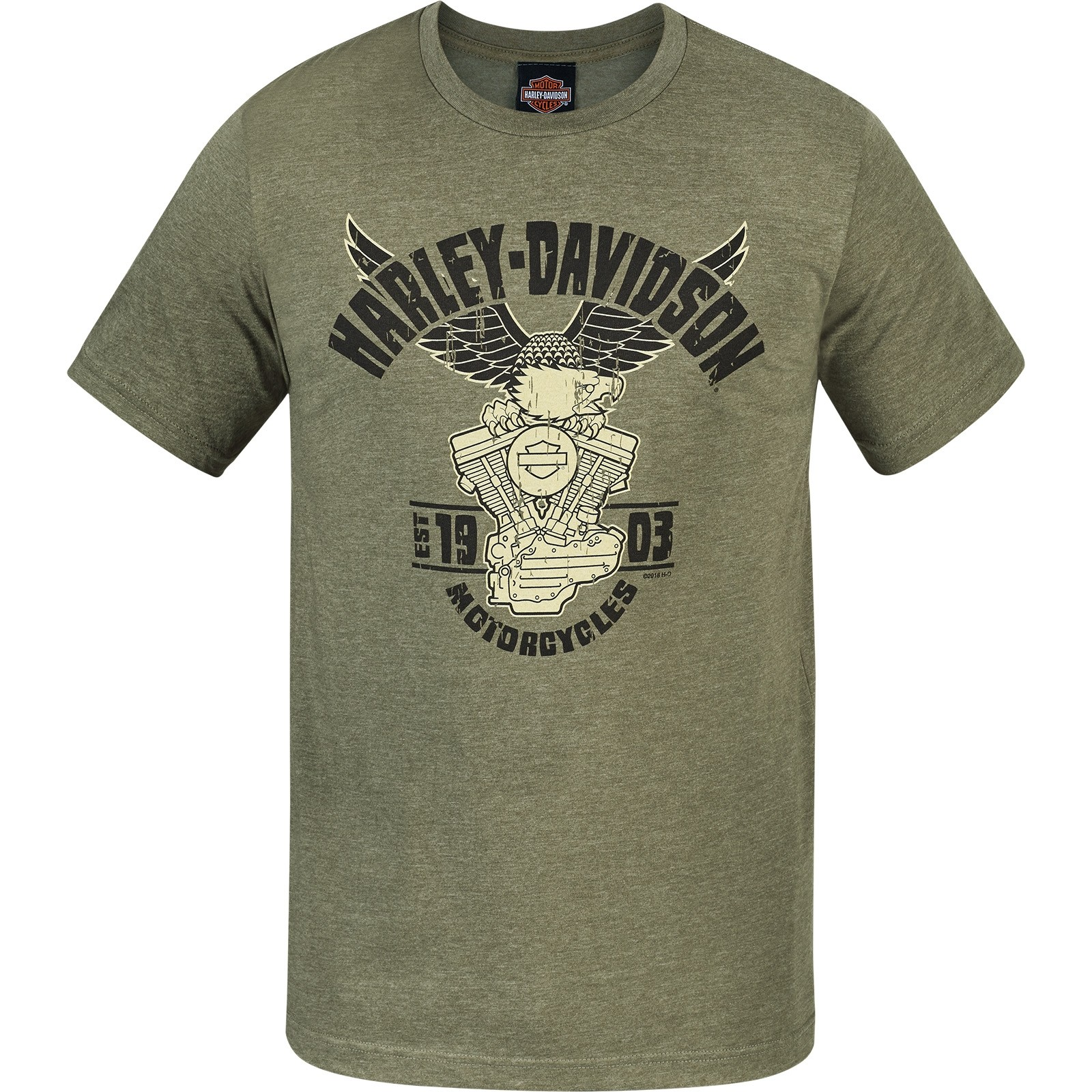 Harley-Davidson Military Lightweight Graphic T-Shirt - Camp Leatherneck | Eagle Decal
