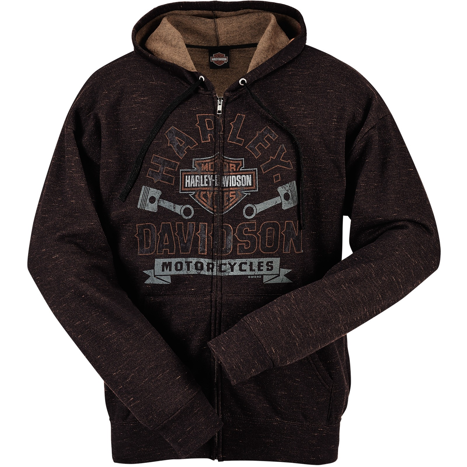 Harley-Davidson Military Zippered Hooded Sweatshirt - Overseas Tour | Marbled