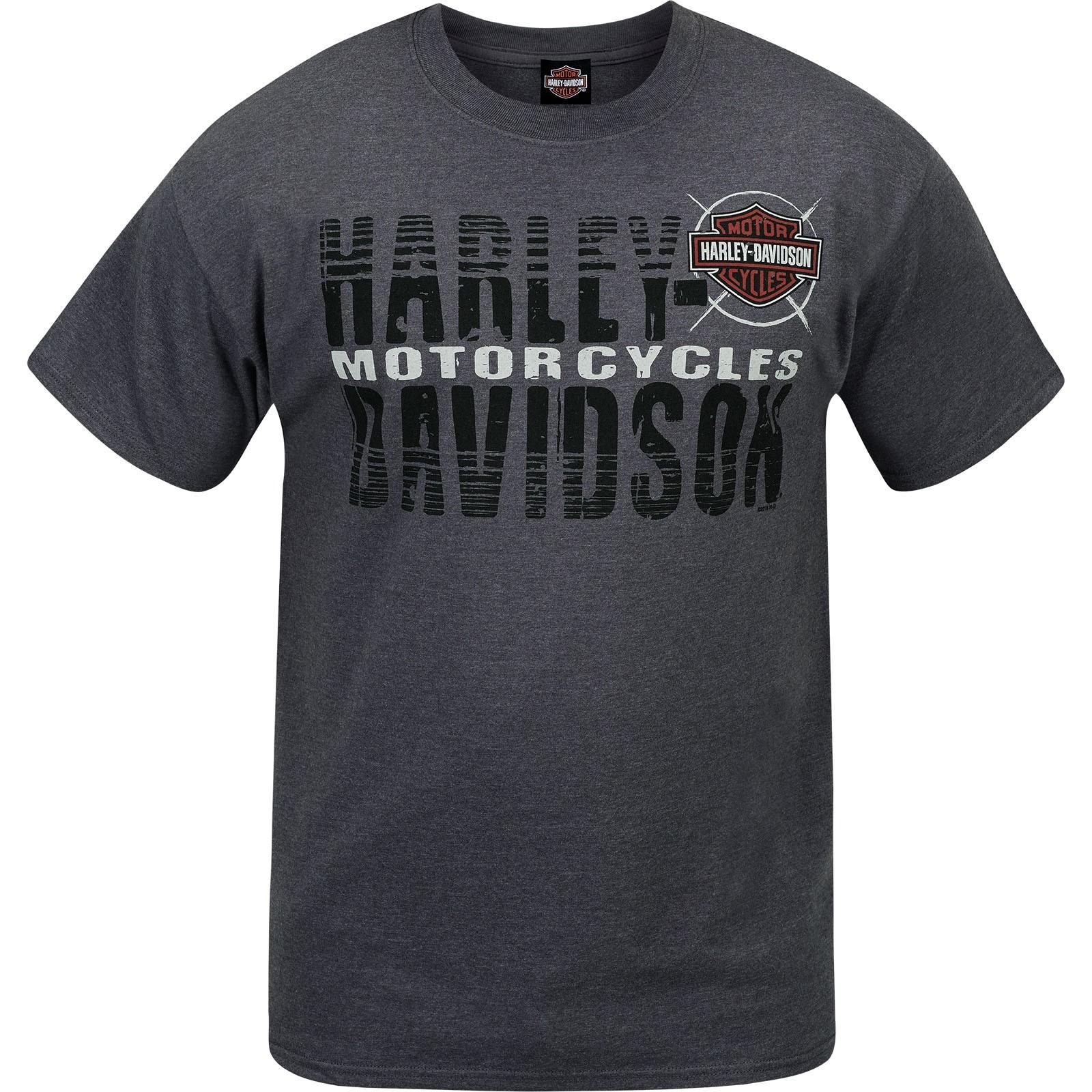 Harley-Davidson Men's Short-Sleeve T-Shirt - Camp Foster | Name Fade