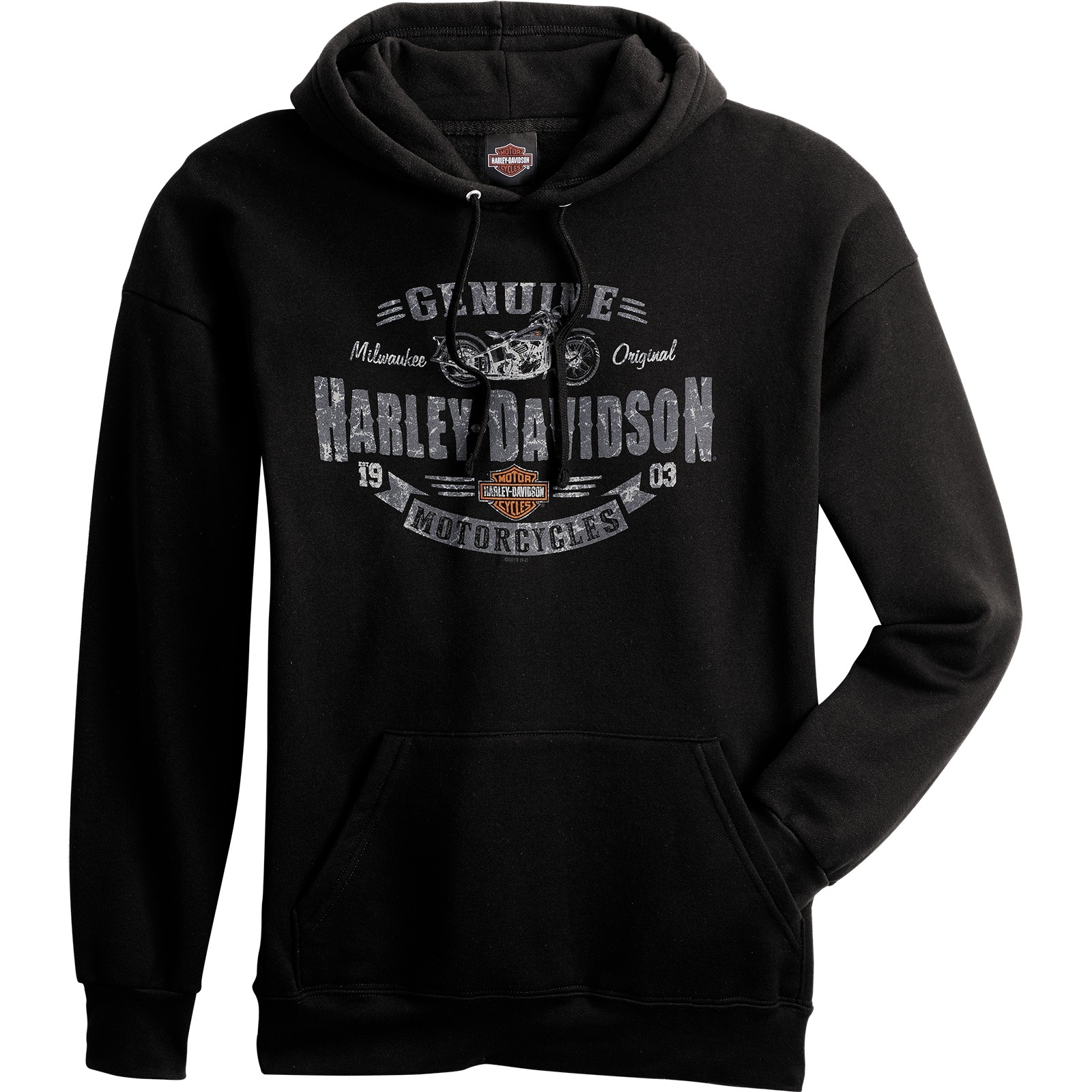 Harley-Davidson Men's Hooded Pullover Sweatshirt - Overseas Tour | Rough Genuine