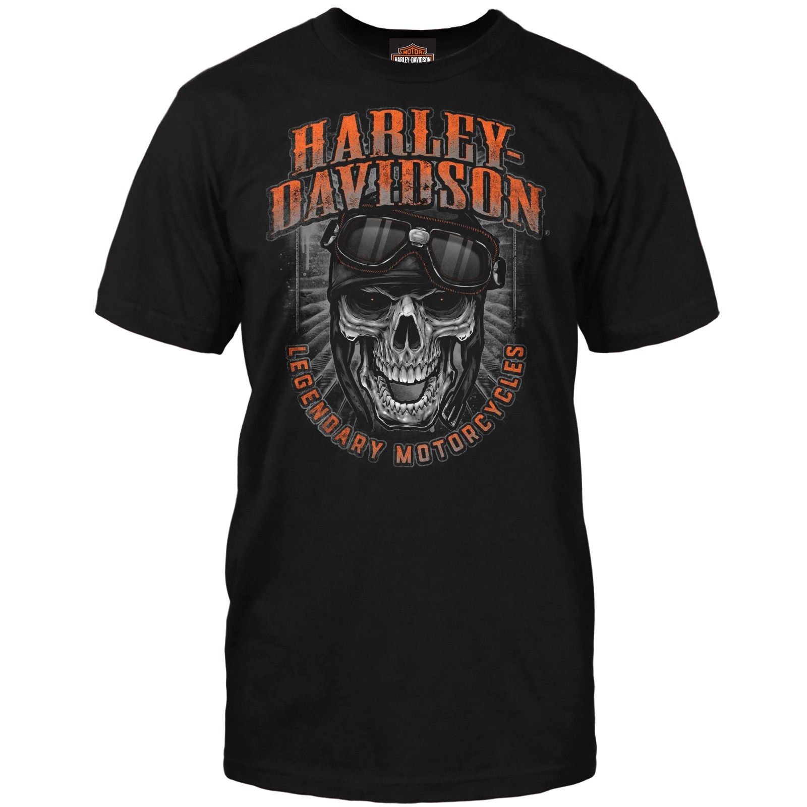 Harley-Davidson Men's Graphic T-Shirt - RAF Mildenhall | Skull and Goggles