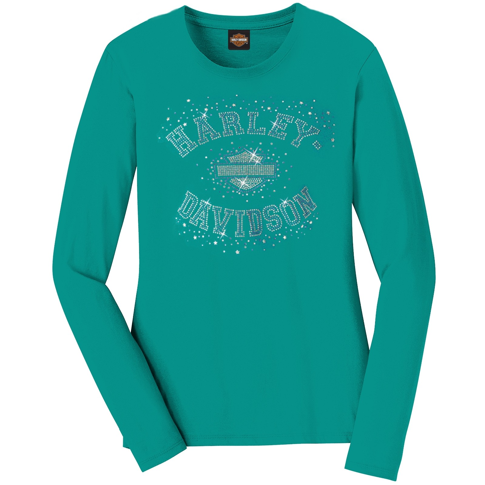 Harley-Davidson Women's Long-Sleeve T-shirt with Bling - Osan Air Base | Starstruck