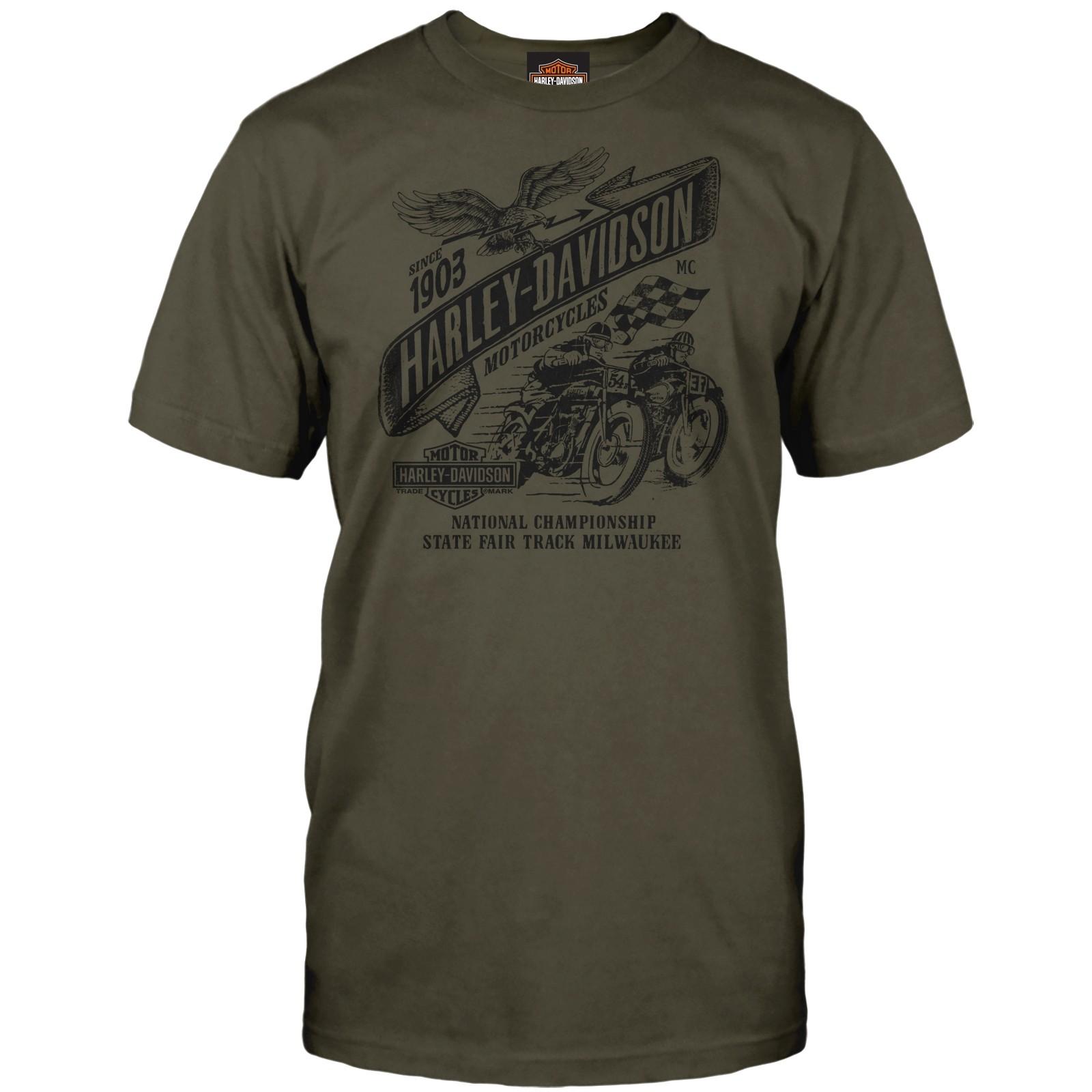 Harley-Davidson Men's Graphic Tee - USAG Stuttgart | Vintage Races