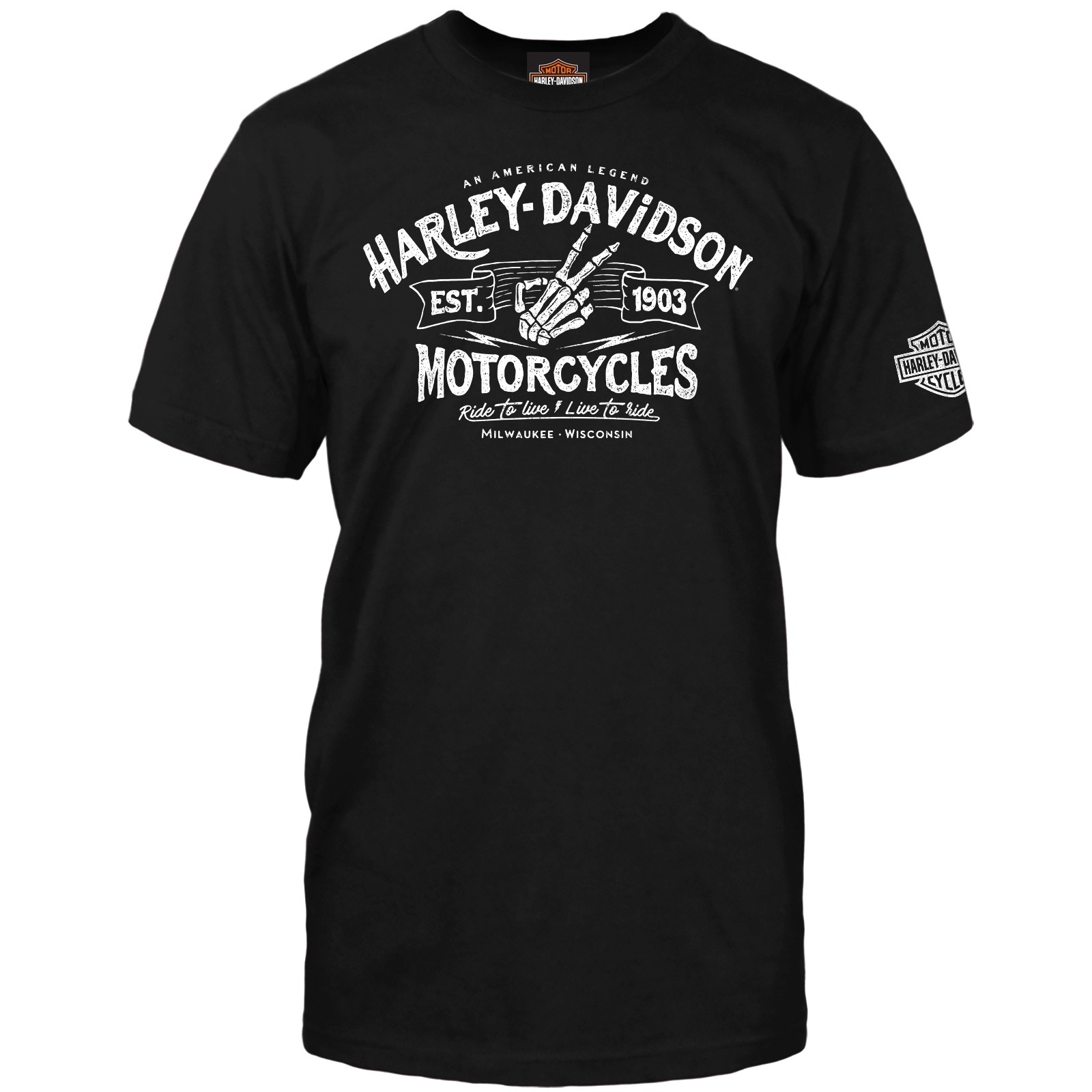 Harley-Davidson Men's Short-Sleeve Graphic T-Shirt - NAS Sigonella | Wave