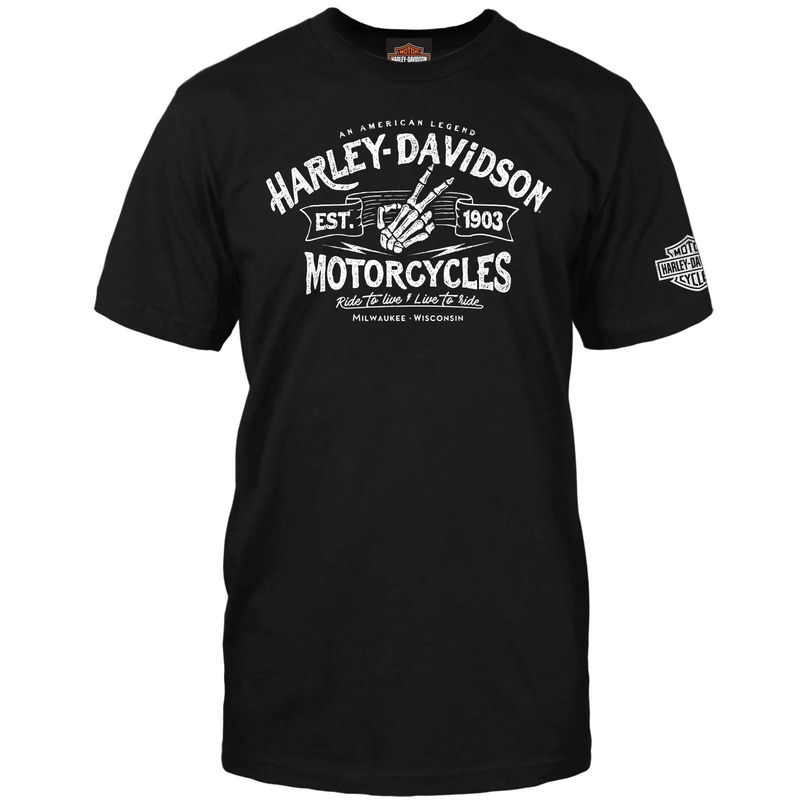 Harley-Davidson Men's Short-Sleeve Graphic T-Shirt - NAS Sigonella | Wave