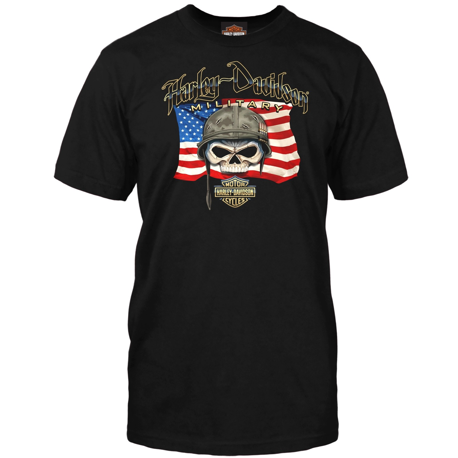 Harley-Davidson Military Men's Graphic T-Shirt | Overseas Tour - Willie G Flag