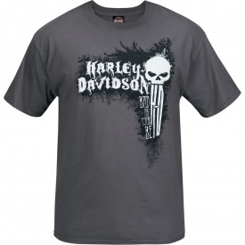 Men's Smoke Grey Skull Graphic T-Shirt - Bagram Air Base | Can Be Bad
