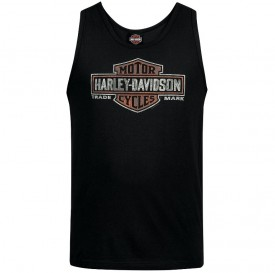 Men's Black Bar and Shield Graphic Tank Top - Camp Foster | Elements