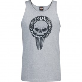Men's Heather Grey Graphic Tank Top - NSA Naples | G Drip