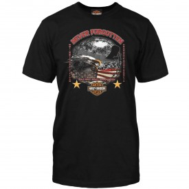 Men's Veterans Remembrance Black Graphic T-Shirt - Never Forgotten